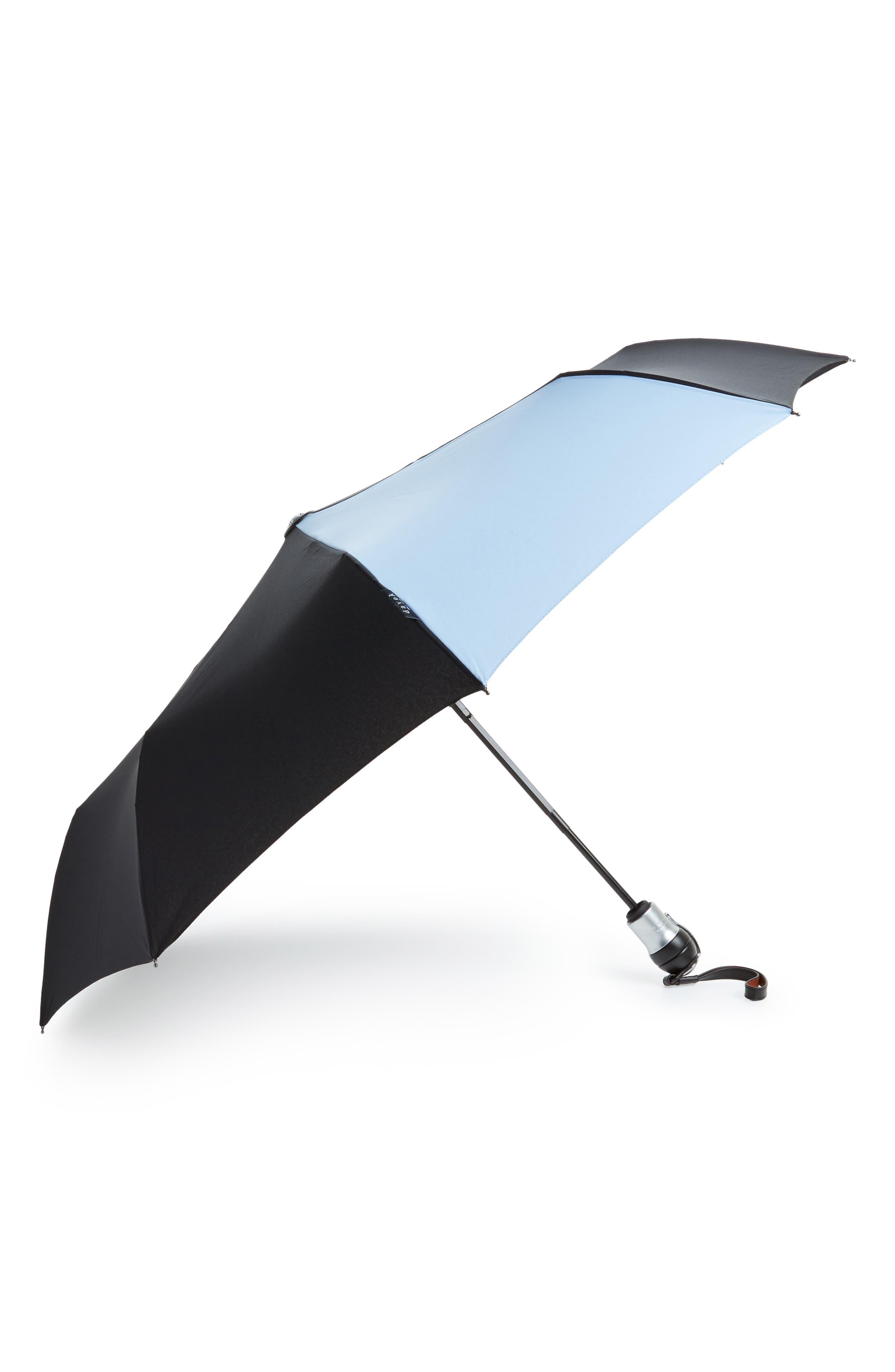 Solo Medium Umbrella,                             Main thumbnail 1, color,                             Black/ Pale Blue