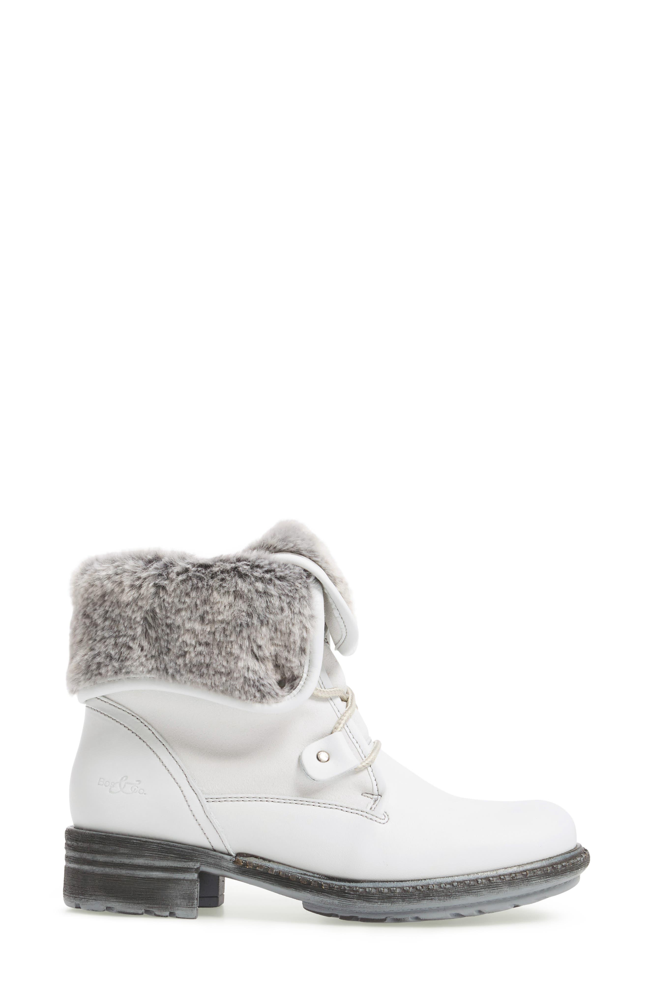 Springfield Waterproof Winter Boot,                             Alternate thumbnail 3, color,                             White/ Grey/ Black