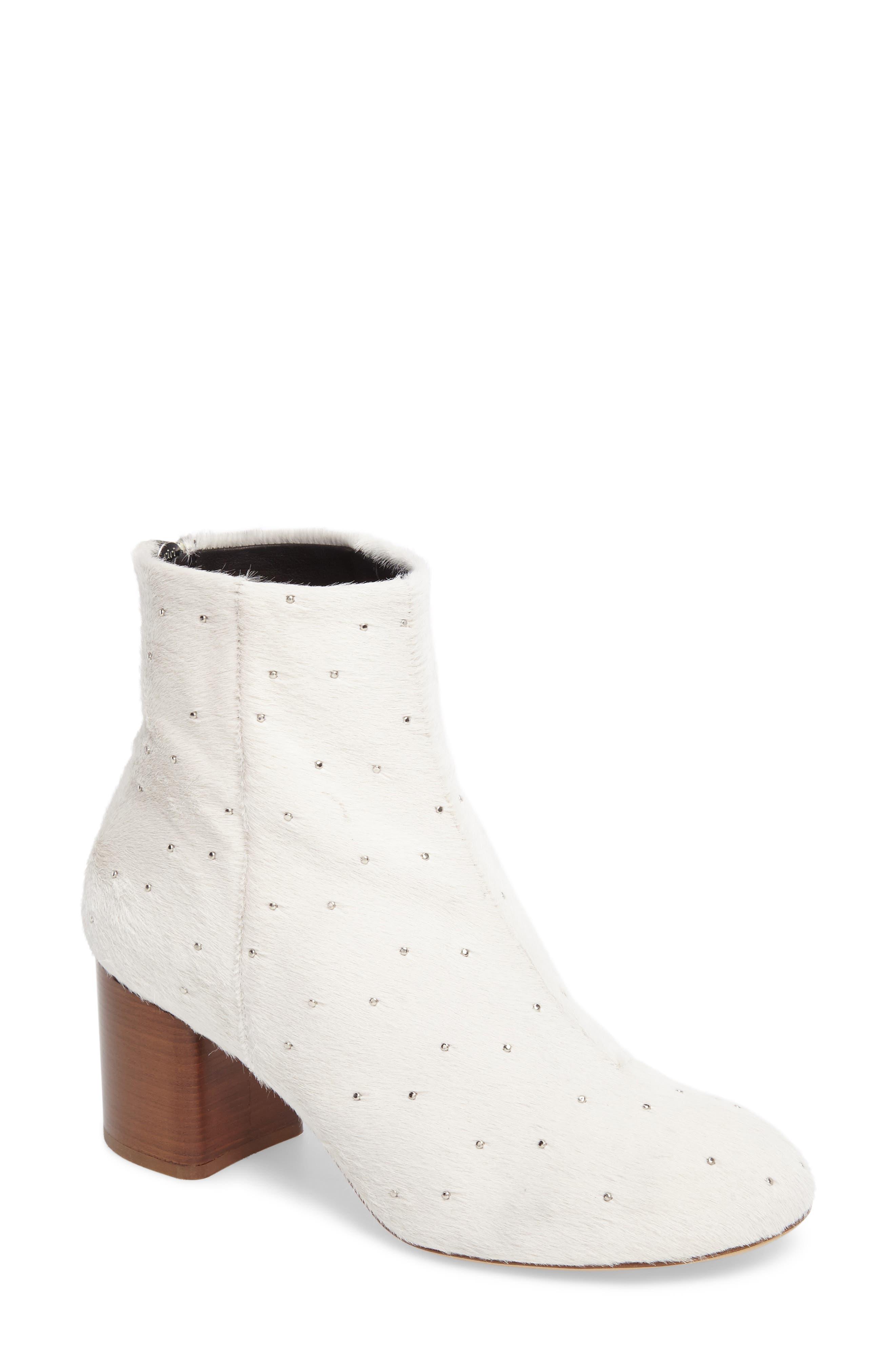 Main Image - rag & bone Drea Genuine Calf Hair Block Heel Bootie (Women)