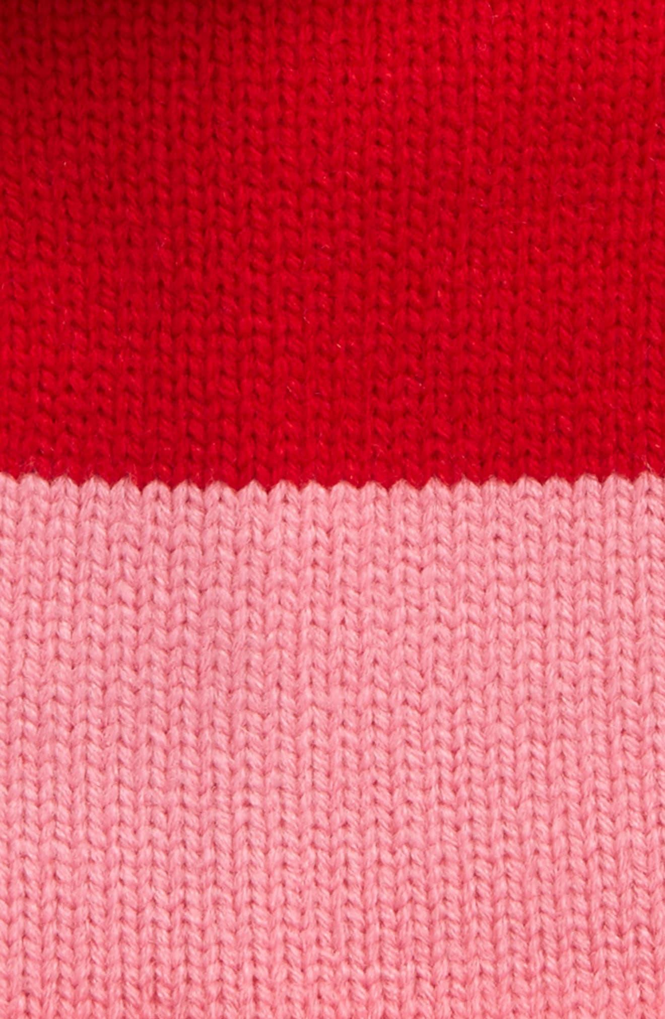 colorblock knit beanie,                             Alternate thumbnail 2, color,                             Fleur De Lis/Charm Red