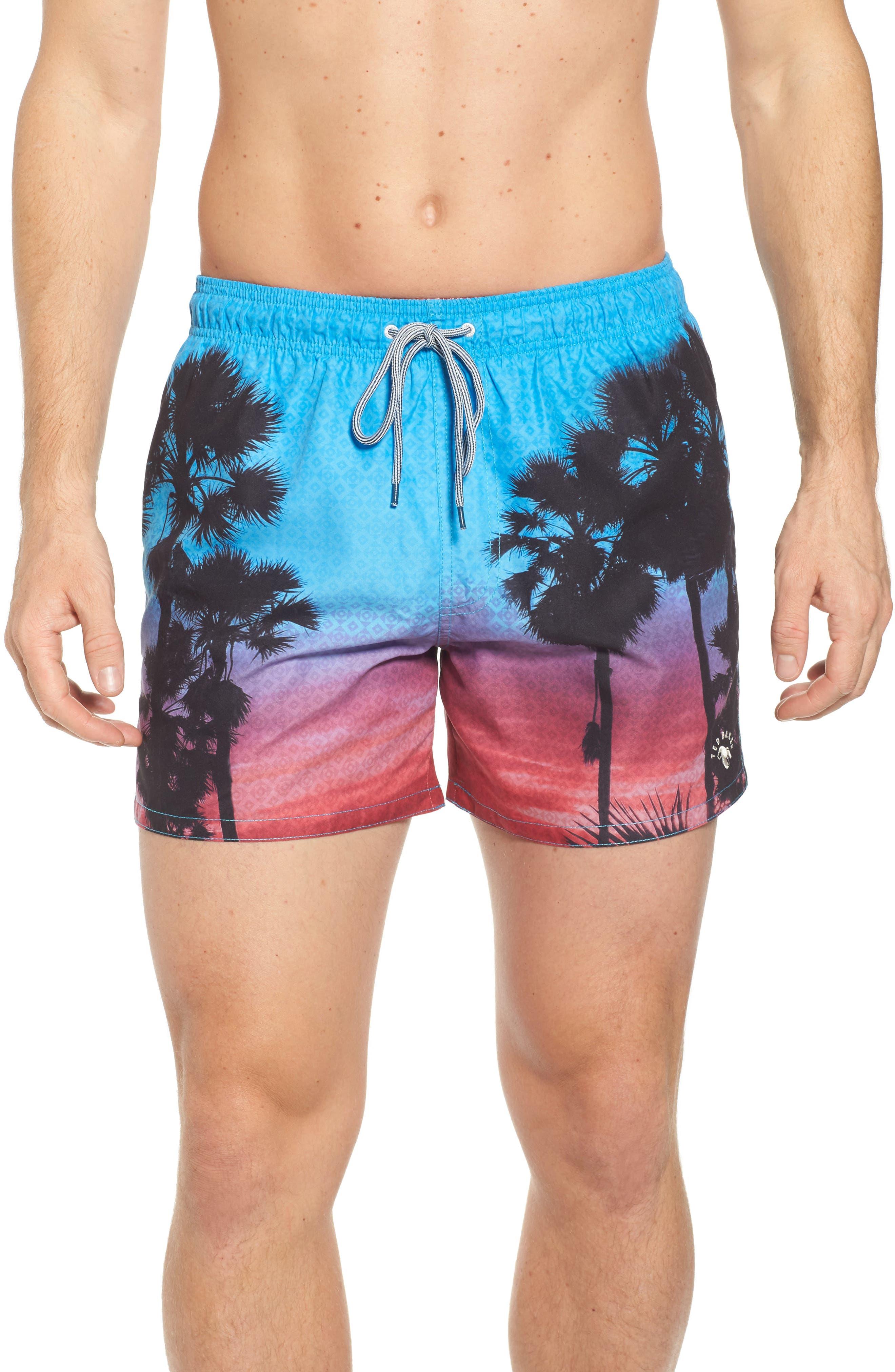 Ted Baker London Sonset Palm Tree Swim Shorts
