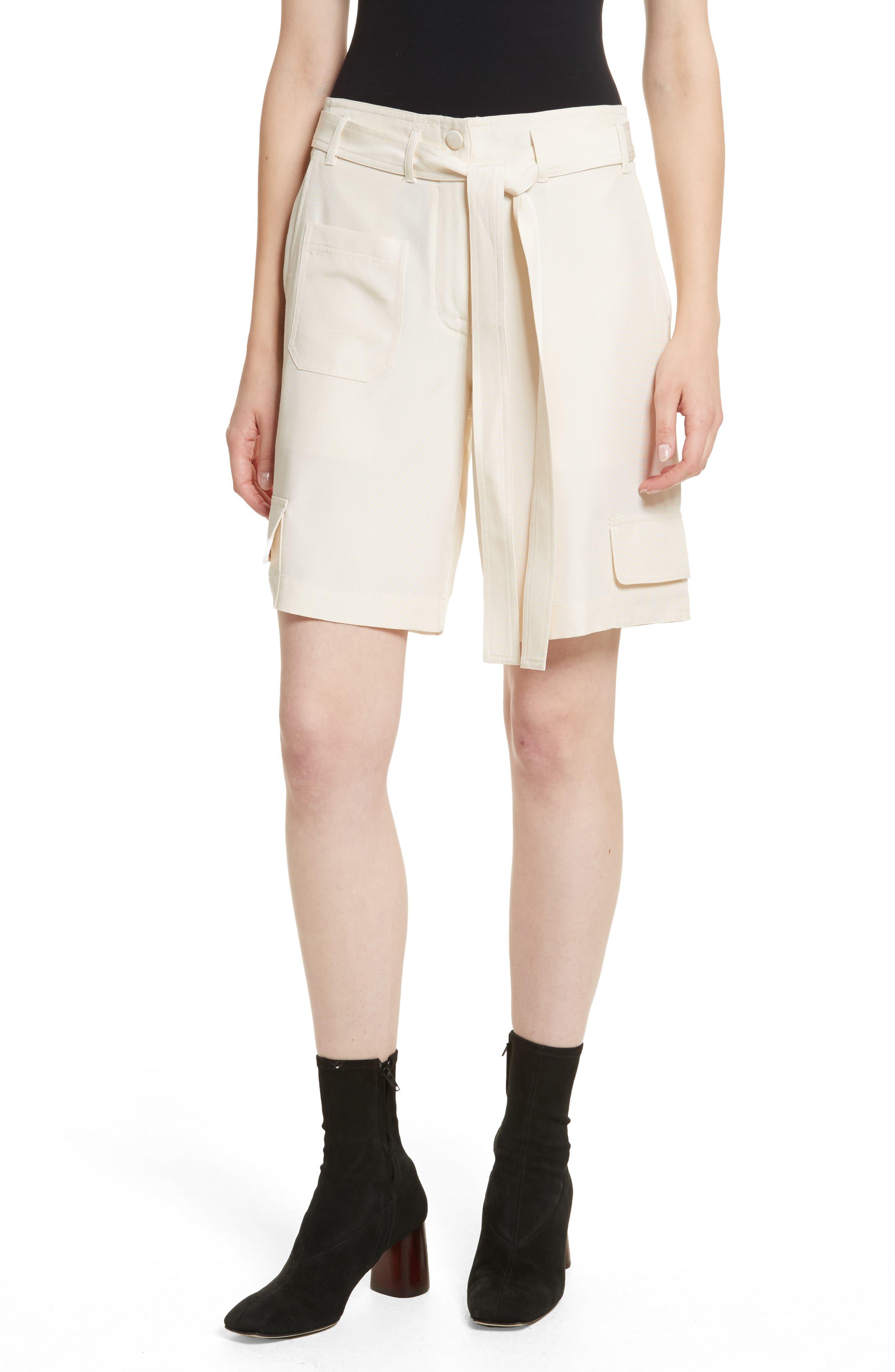 Helmut Lang Dupioni Silk Cargo Shorts
