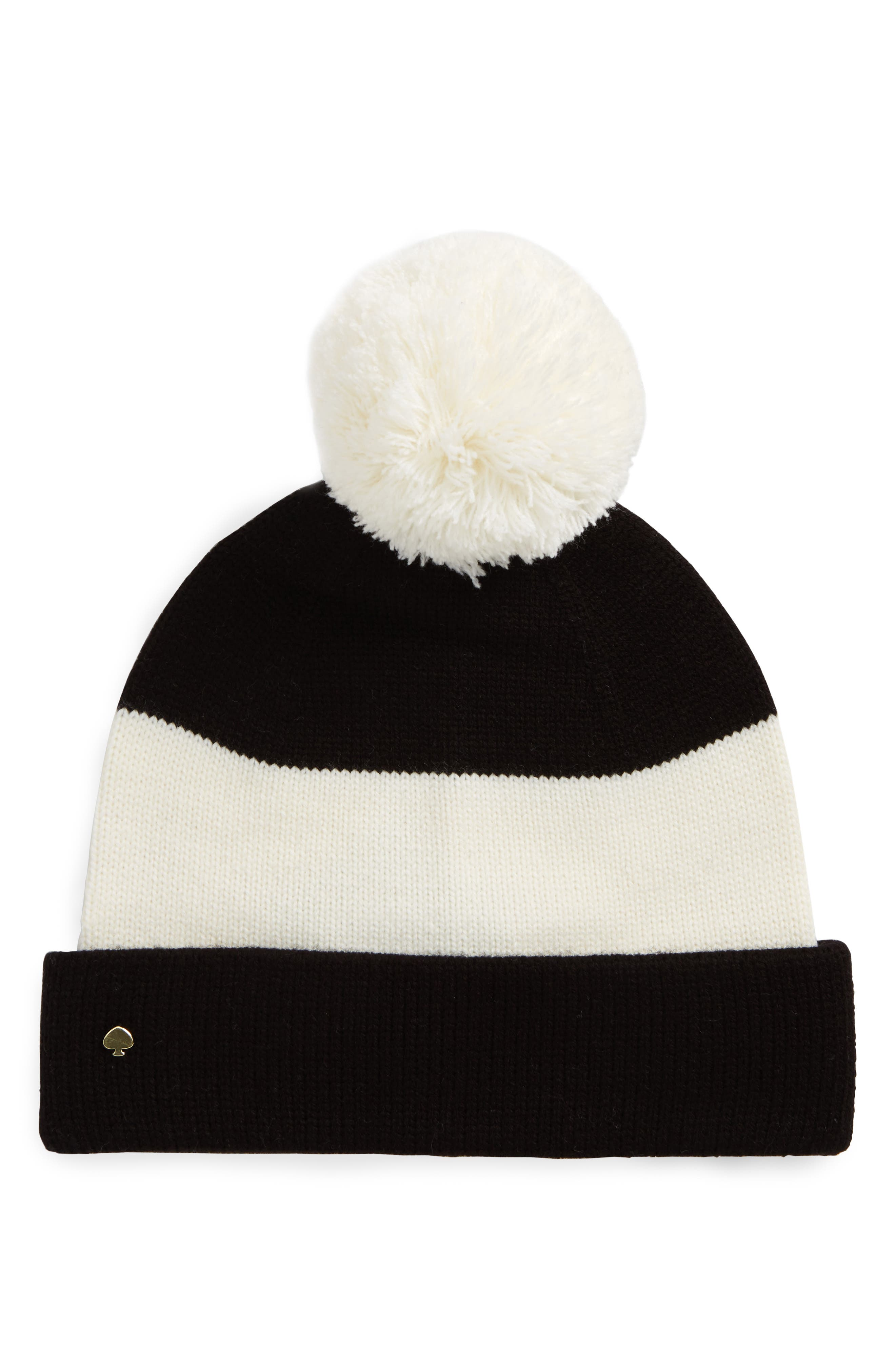 kate spade new york colorblock knit beanie
