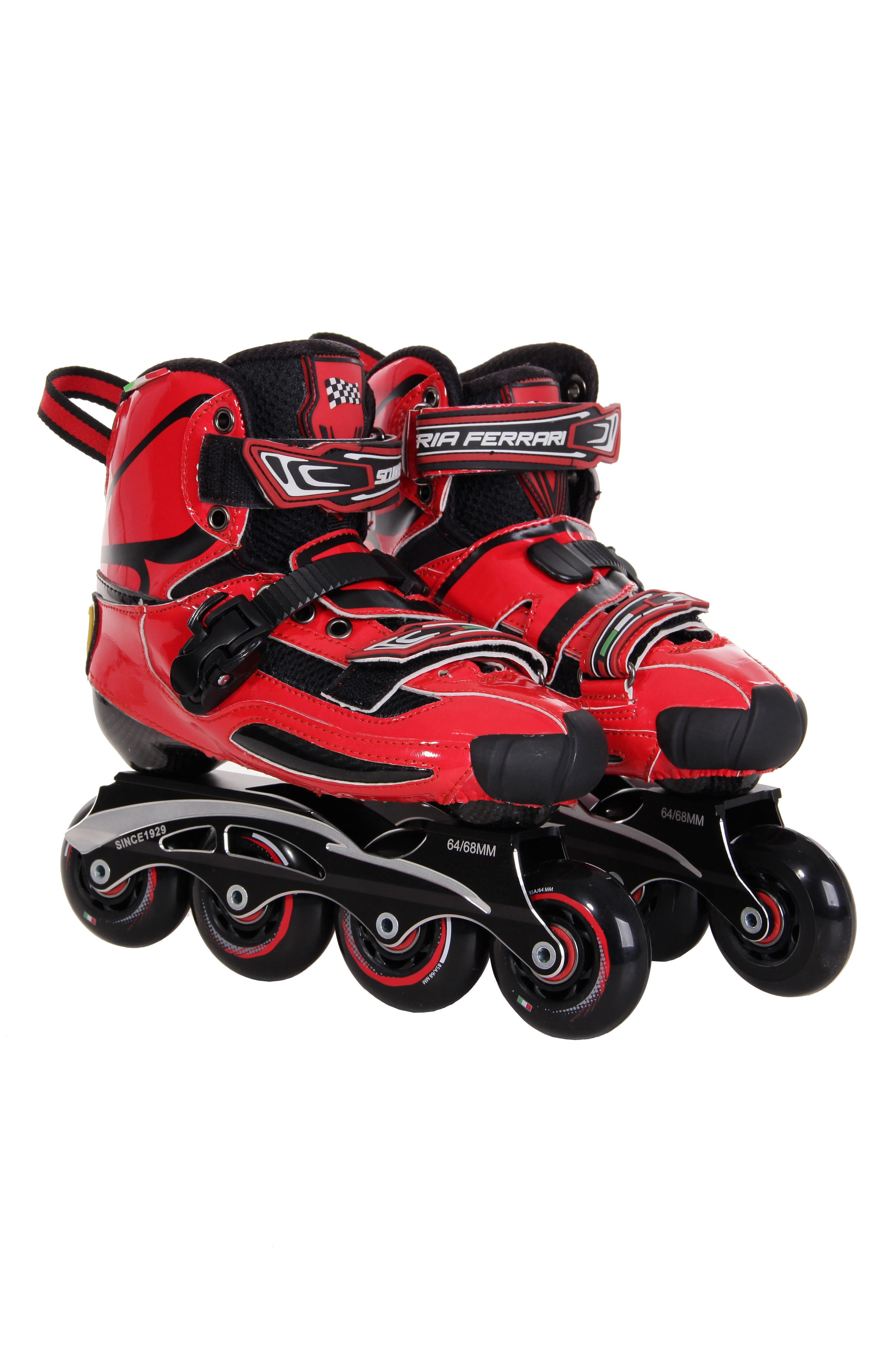 Carbon Fiber Slalom Inline Skates with Interchangeable Chassis,                         Main,                         color, Red