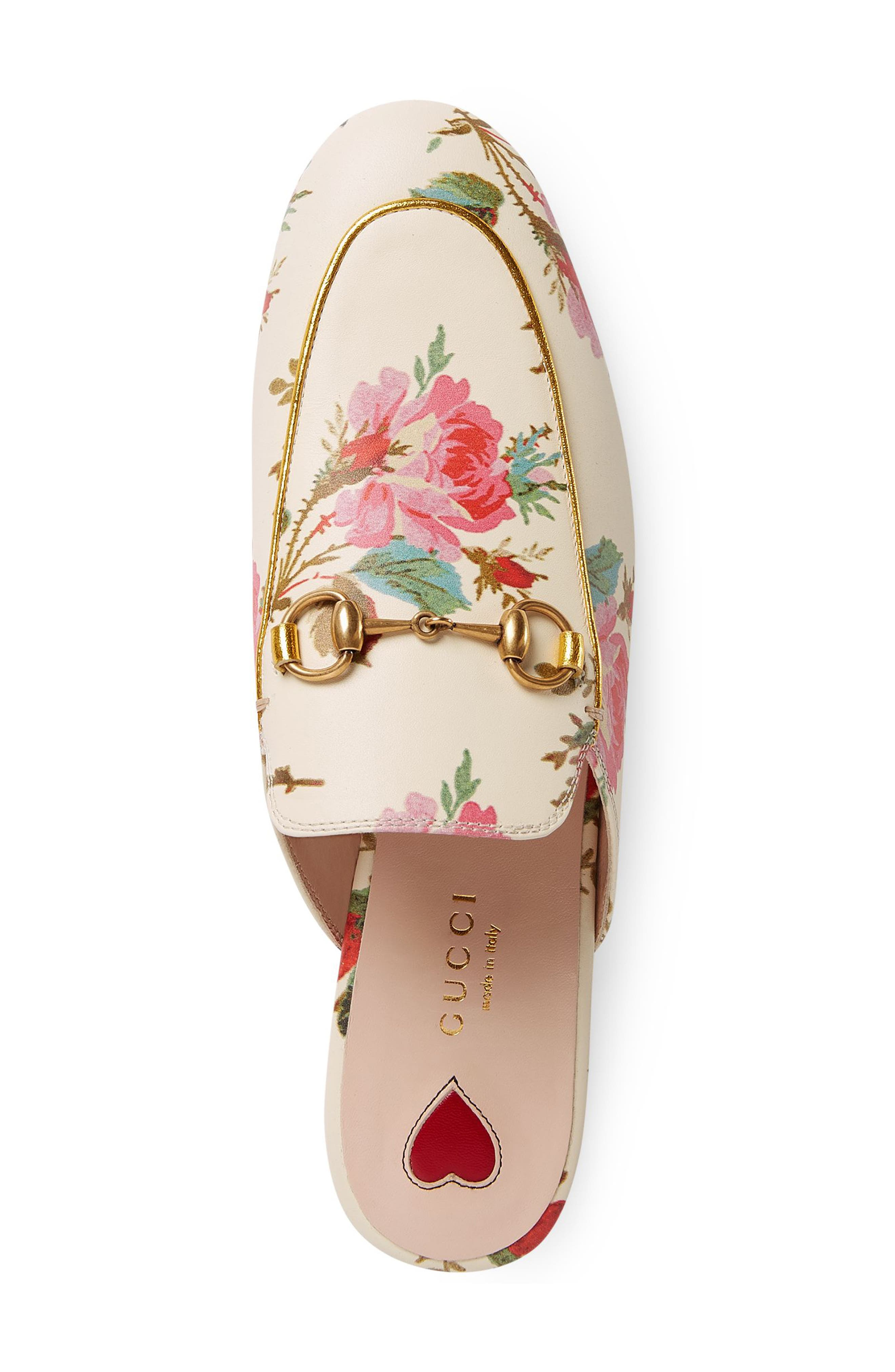 Alternate Image 2  - Gucci Princetown Floral Loafer Mule (Women)