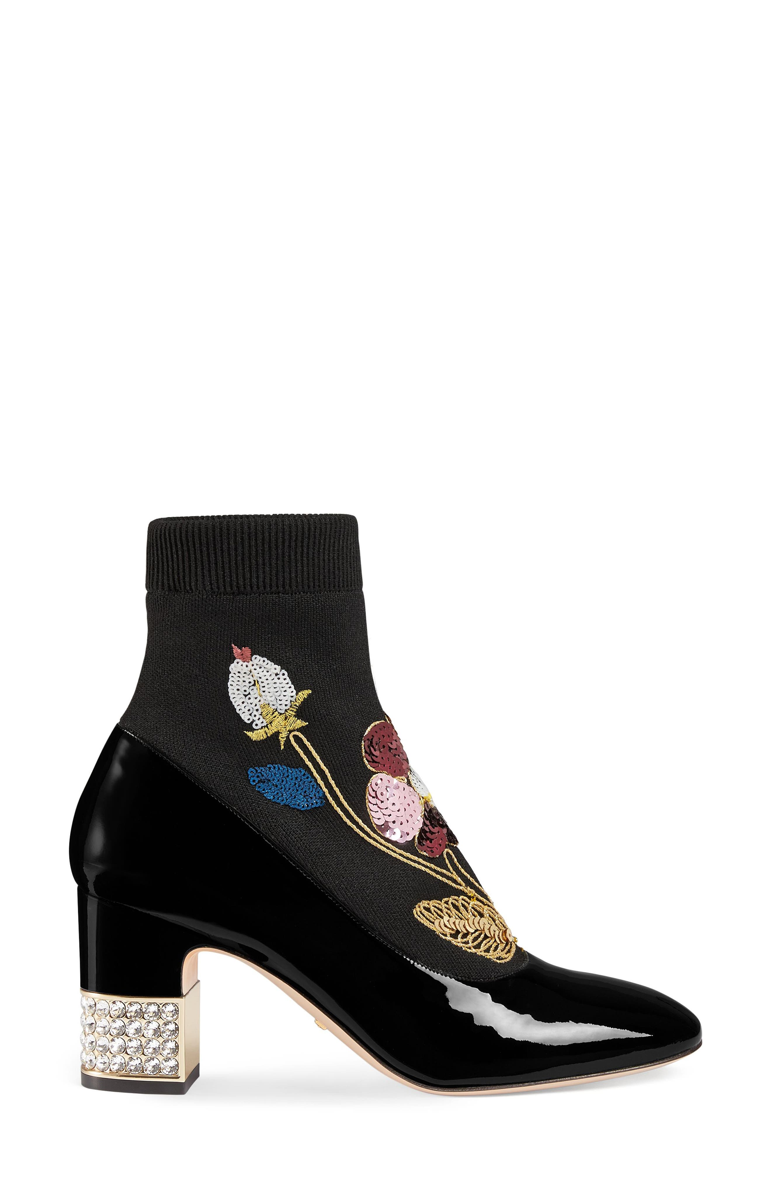 Alternate Image 2  - Gucci Candy Floral Embroidered Bootie (Women)