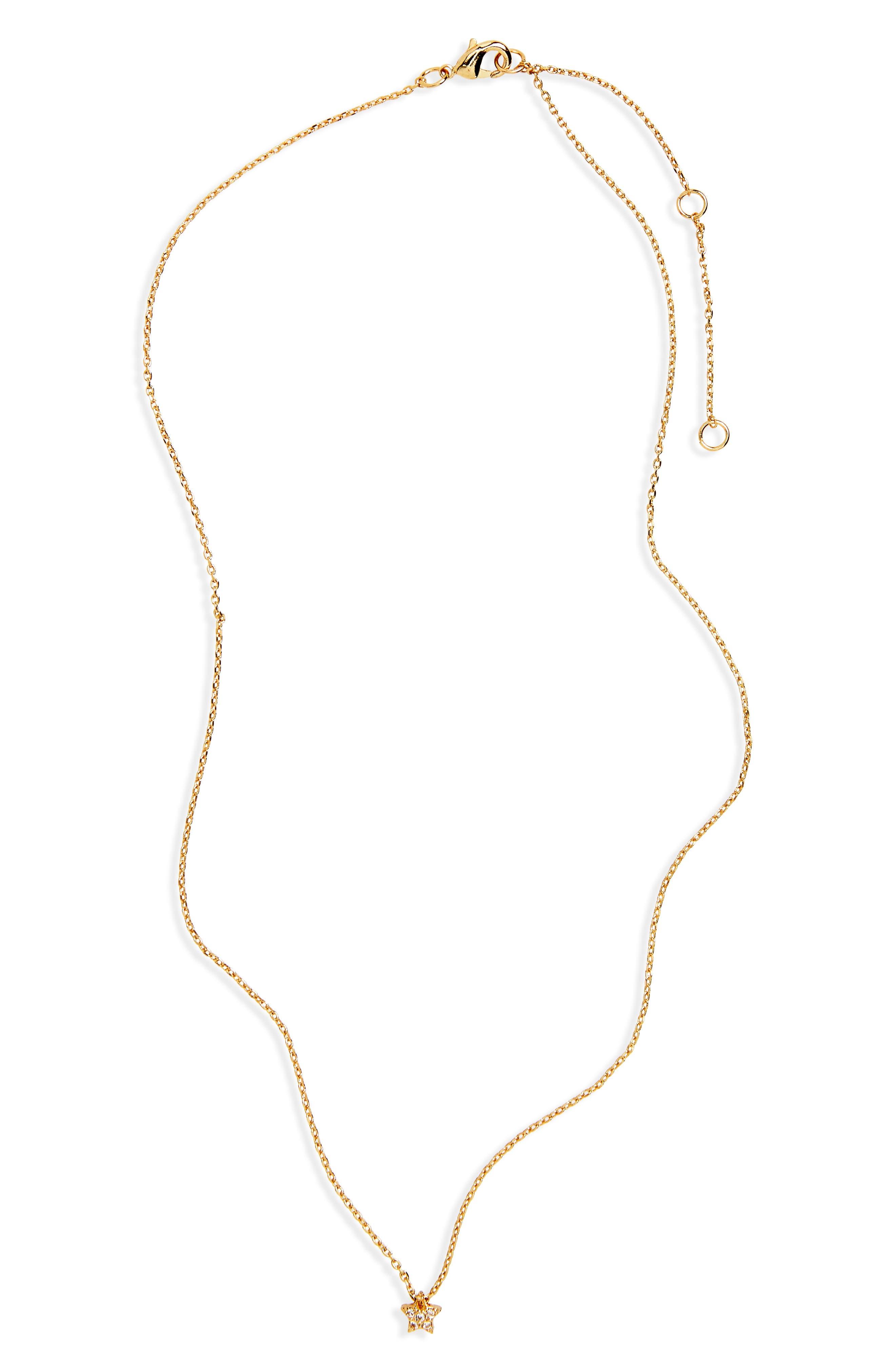 BP. Dainty Crystal Star Pendant Necklace