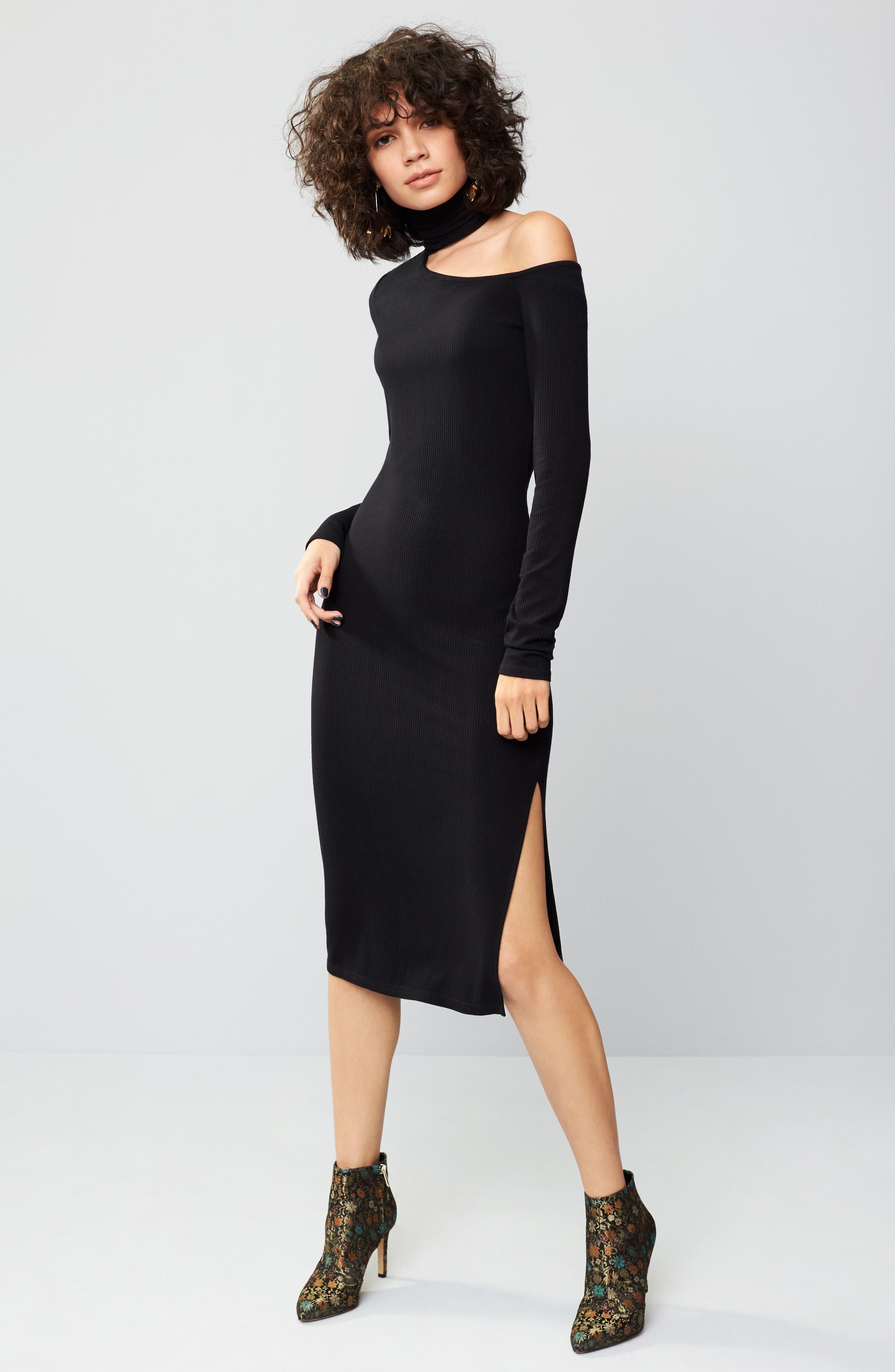 Alternate Image 2  - PAIGE Faith Knit Cold Shoulder Dress