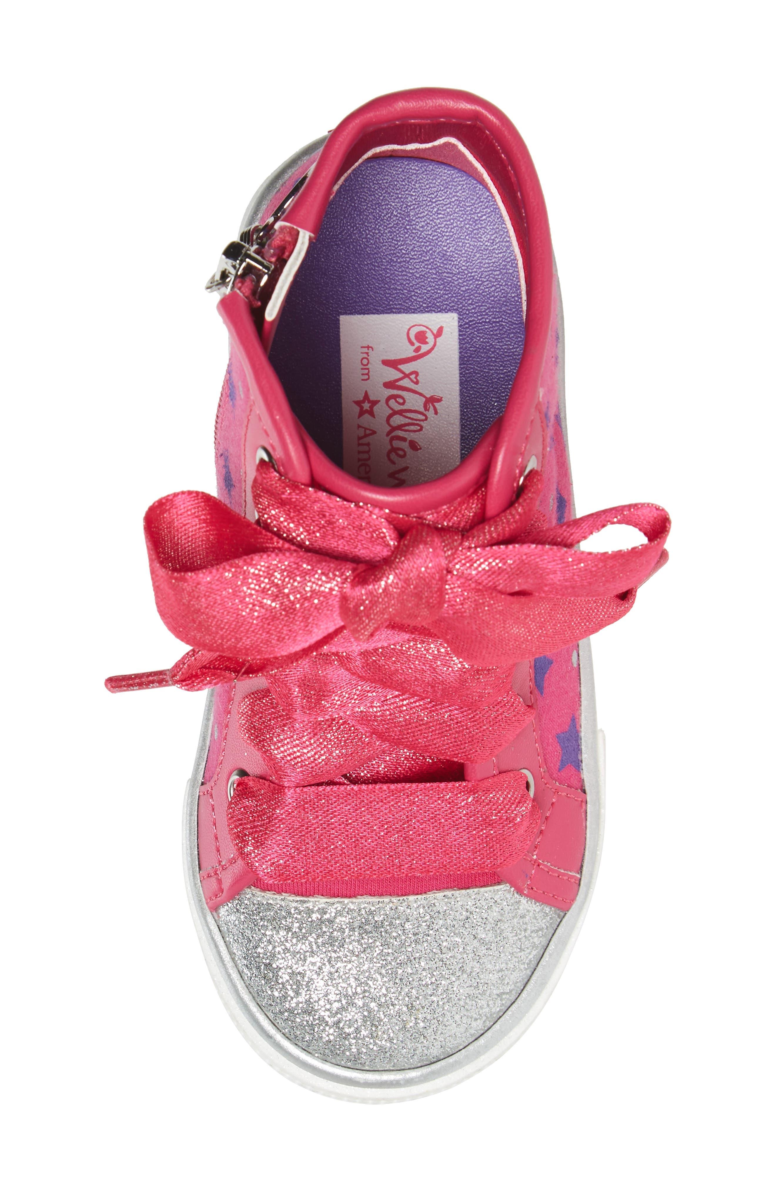 Emerson High Top Sneaker,                             Alternate thumbnail 5, color,                             Pink/ Purple