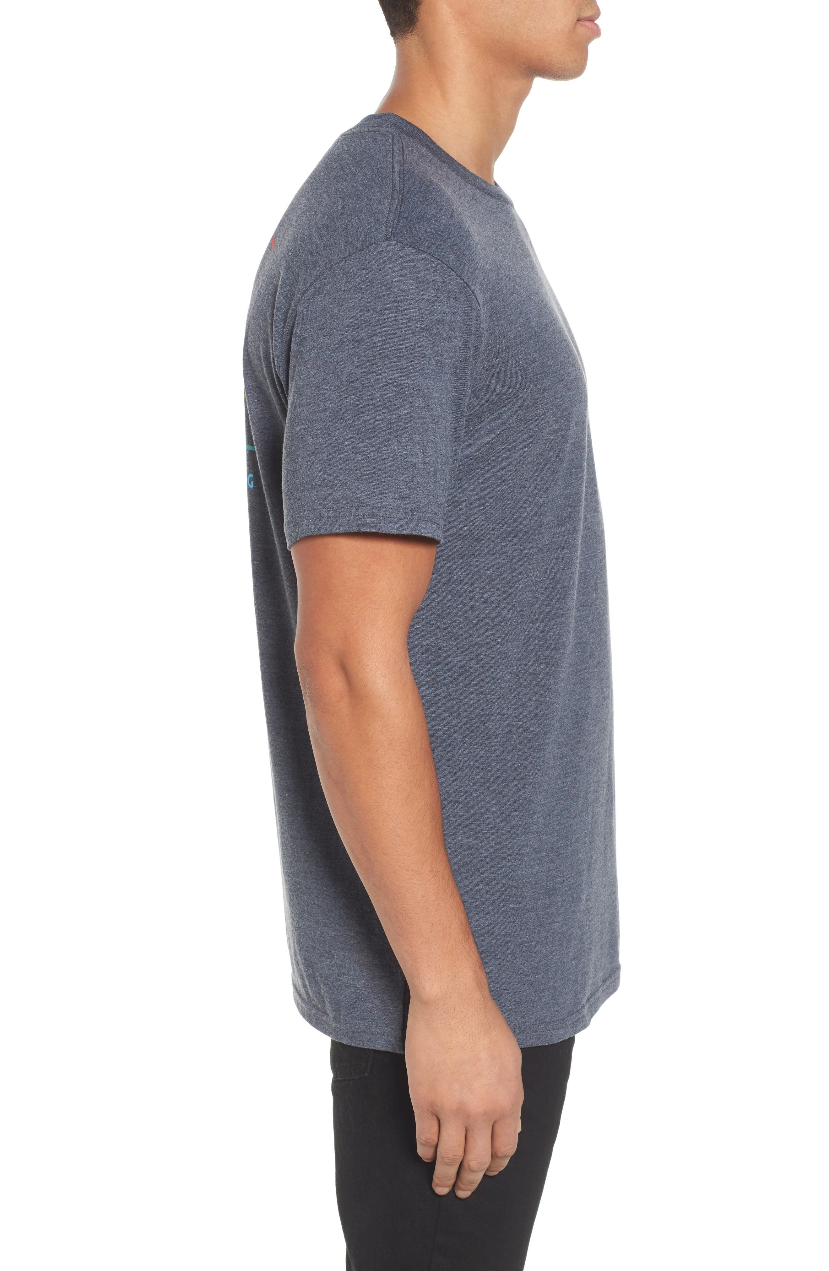 Flat Line T-Shirt,                             Alternate thumbnail 3, color,                             Indigo Heather