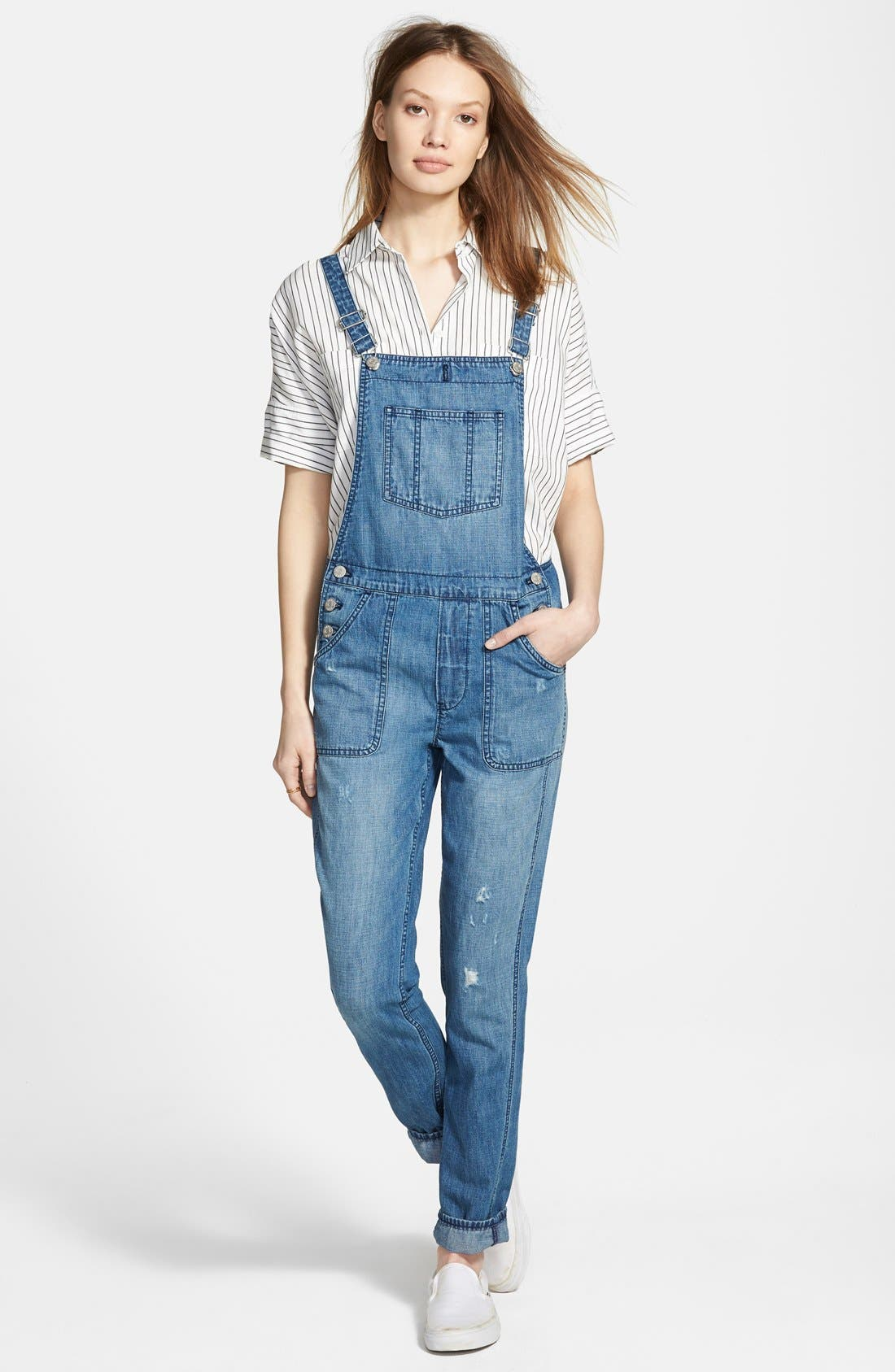 Alternate Image 1 Selected - Madewell 'Park' Denim Overalls (Dixon)