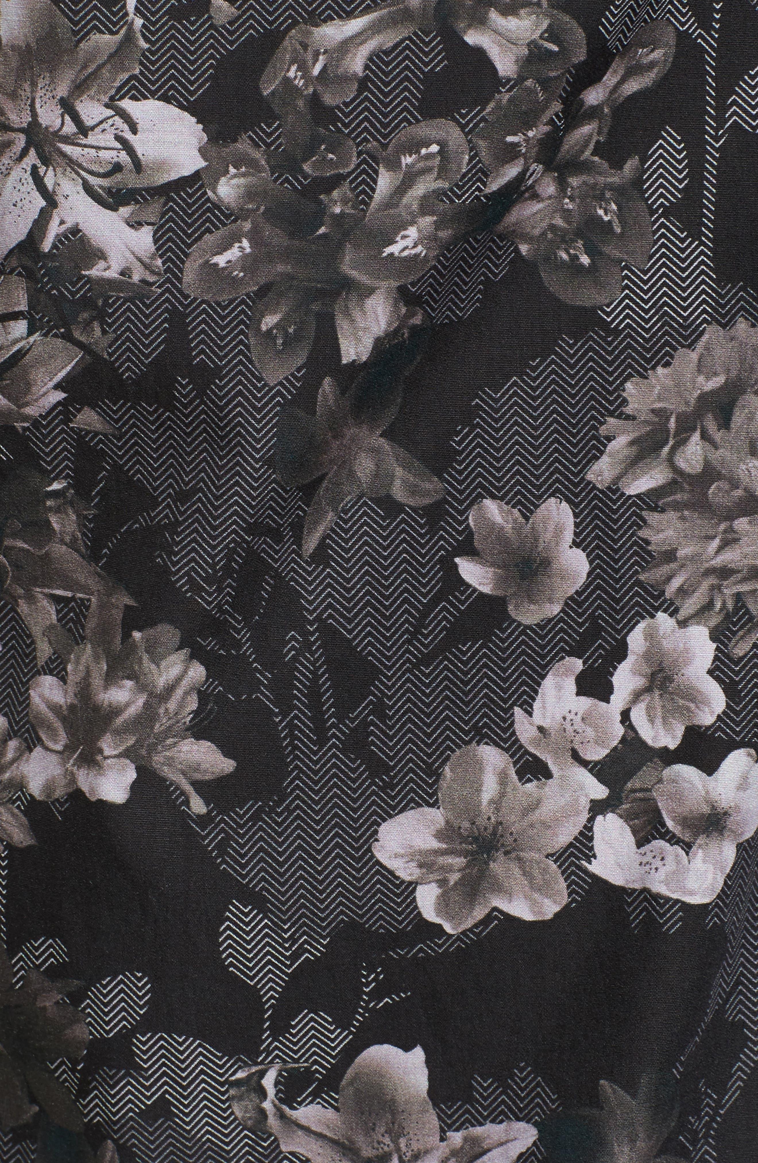 Alternate Image 5  - Ted Baker Konkord Slim Fit Floral Print Sport Shirt