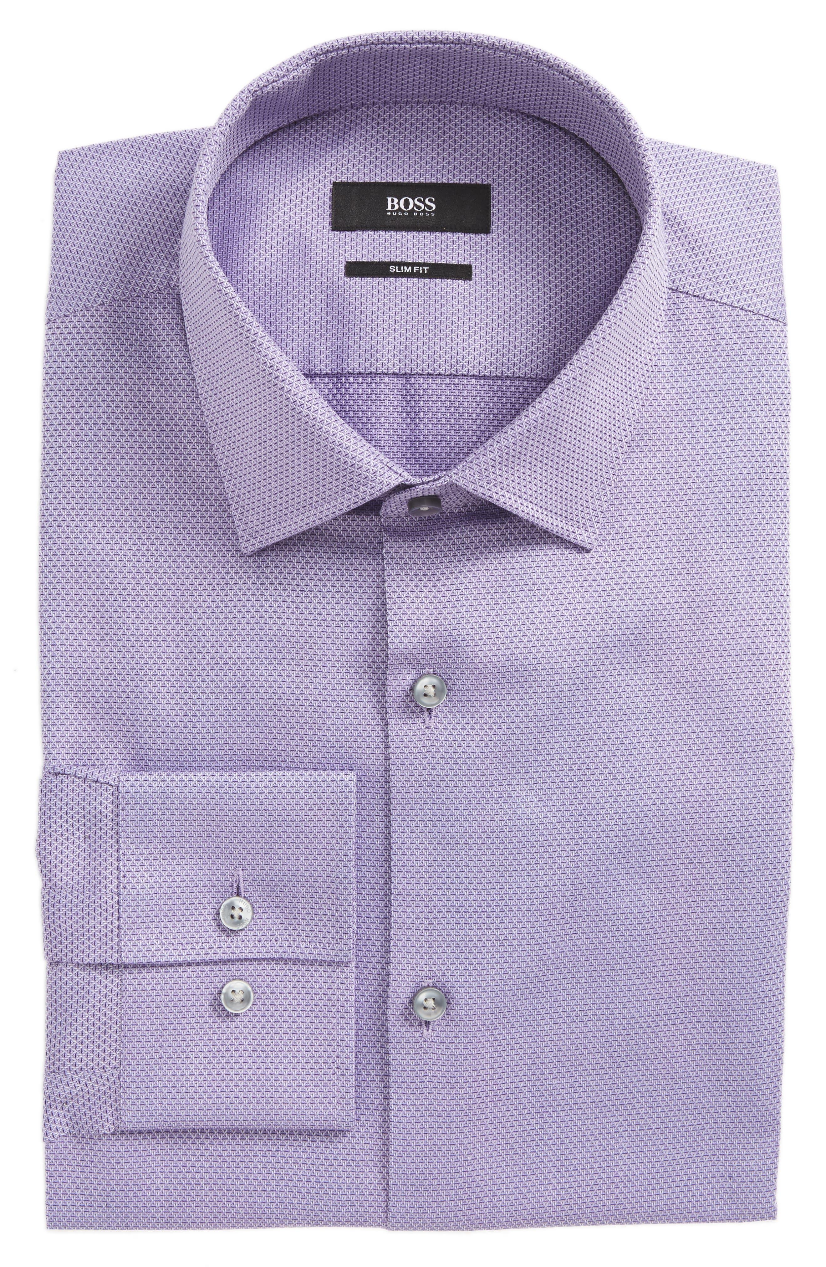 Main Image - BOSS Jenno Slim Fit Textured Dress Shirt
