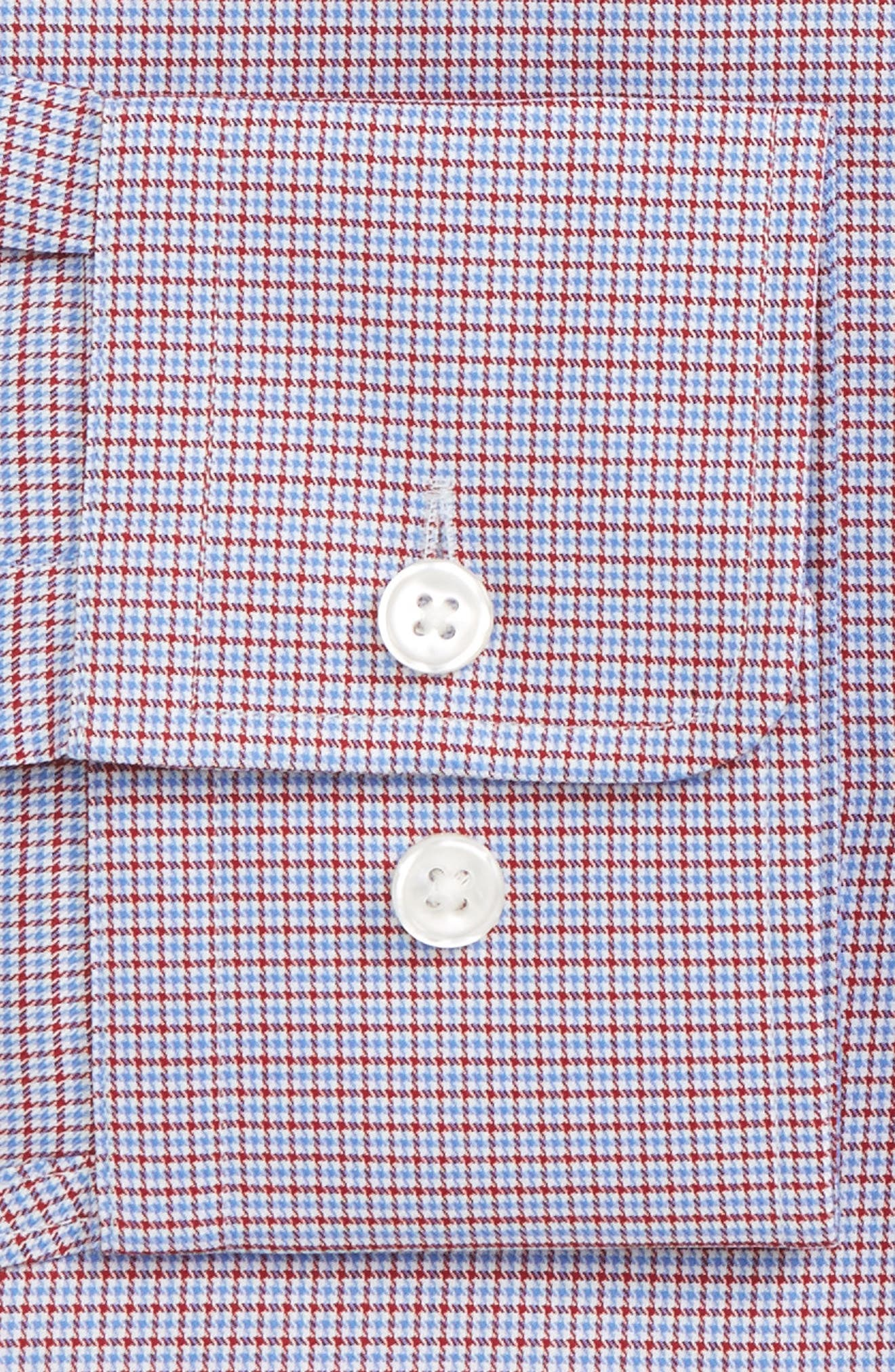 Marley Sharp Fit Microcheck Dress Shirt,                             Alternate thumbnail 2, color,                             Medium Red