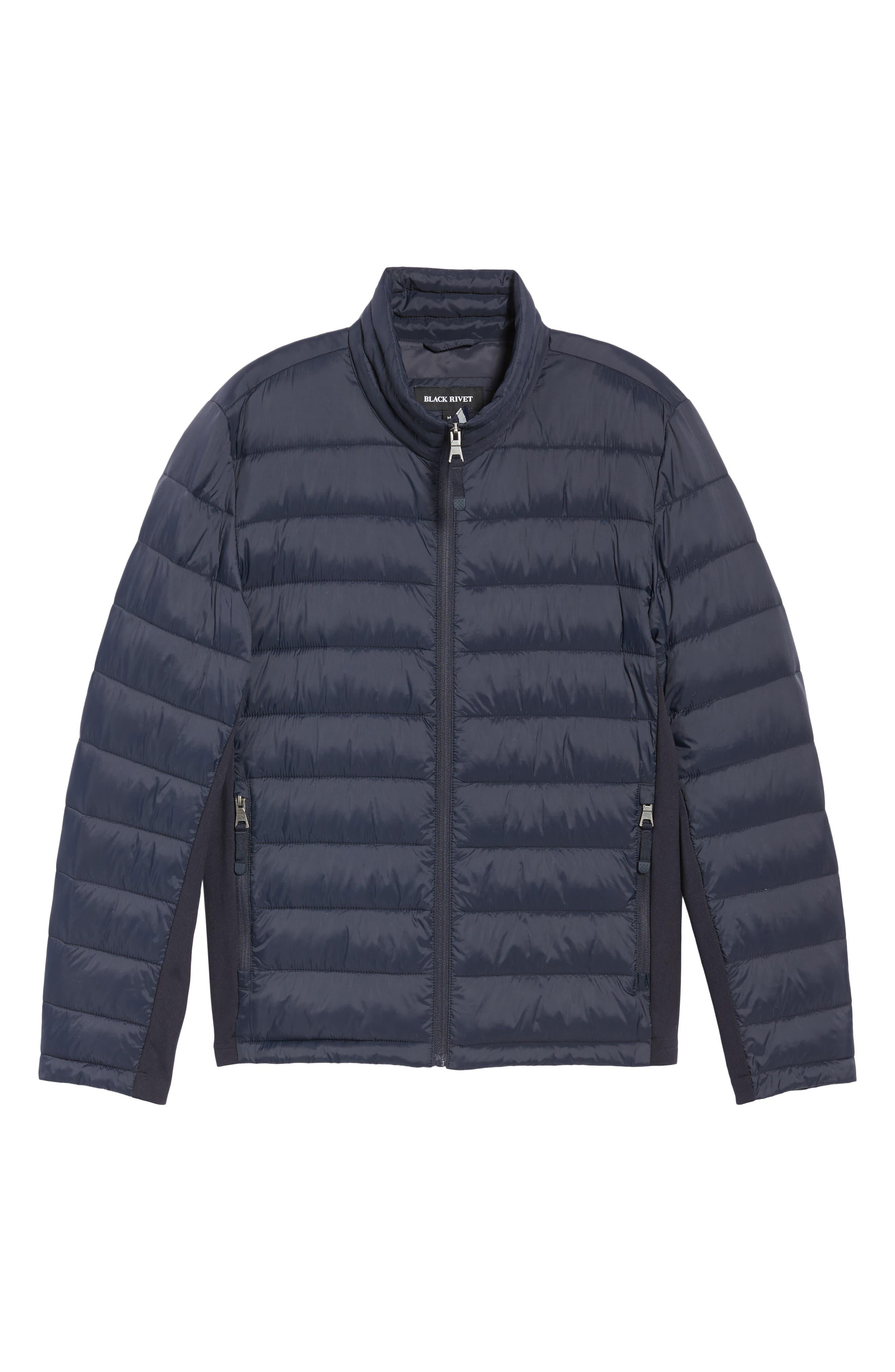 Alternate Image 6  - Black Rivet Water Resistant Packable Puffer Jacket