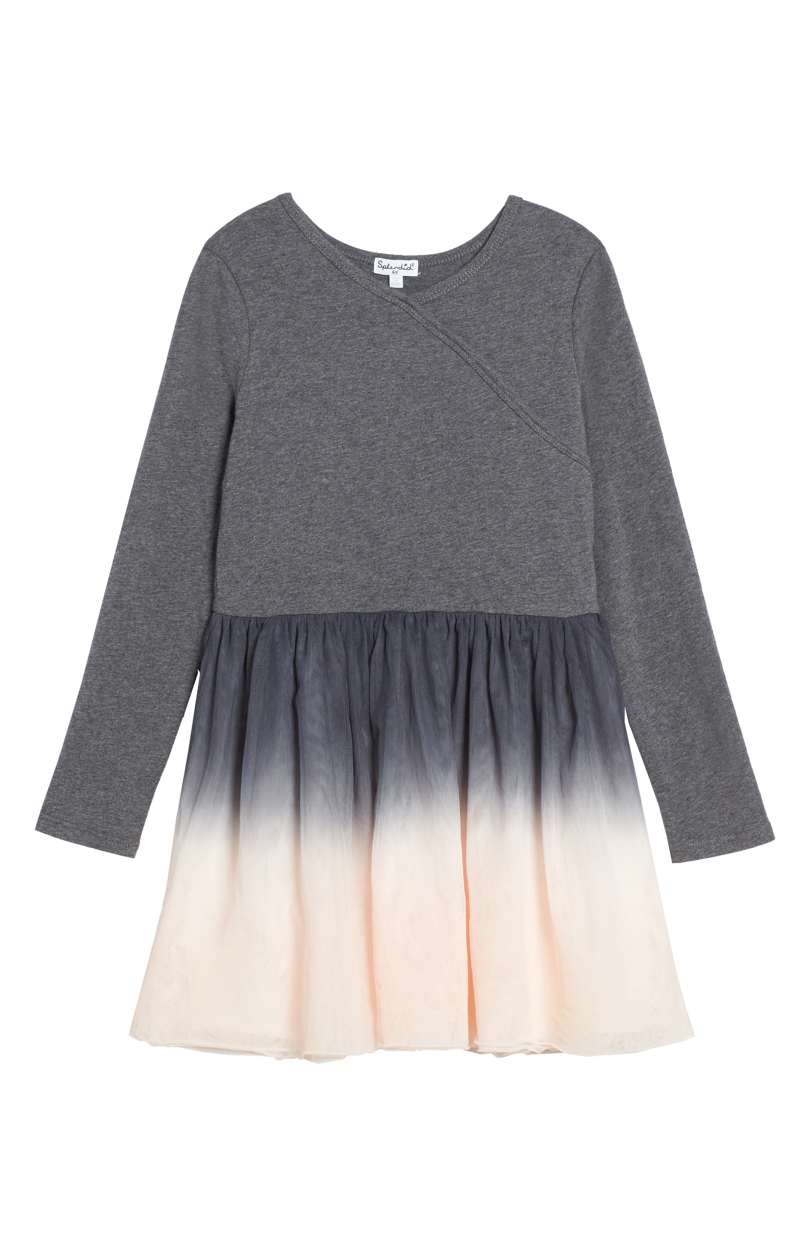 Splendid Dip Dye Tulle Dress (Toddler Girls & Little Girls)