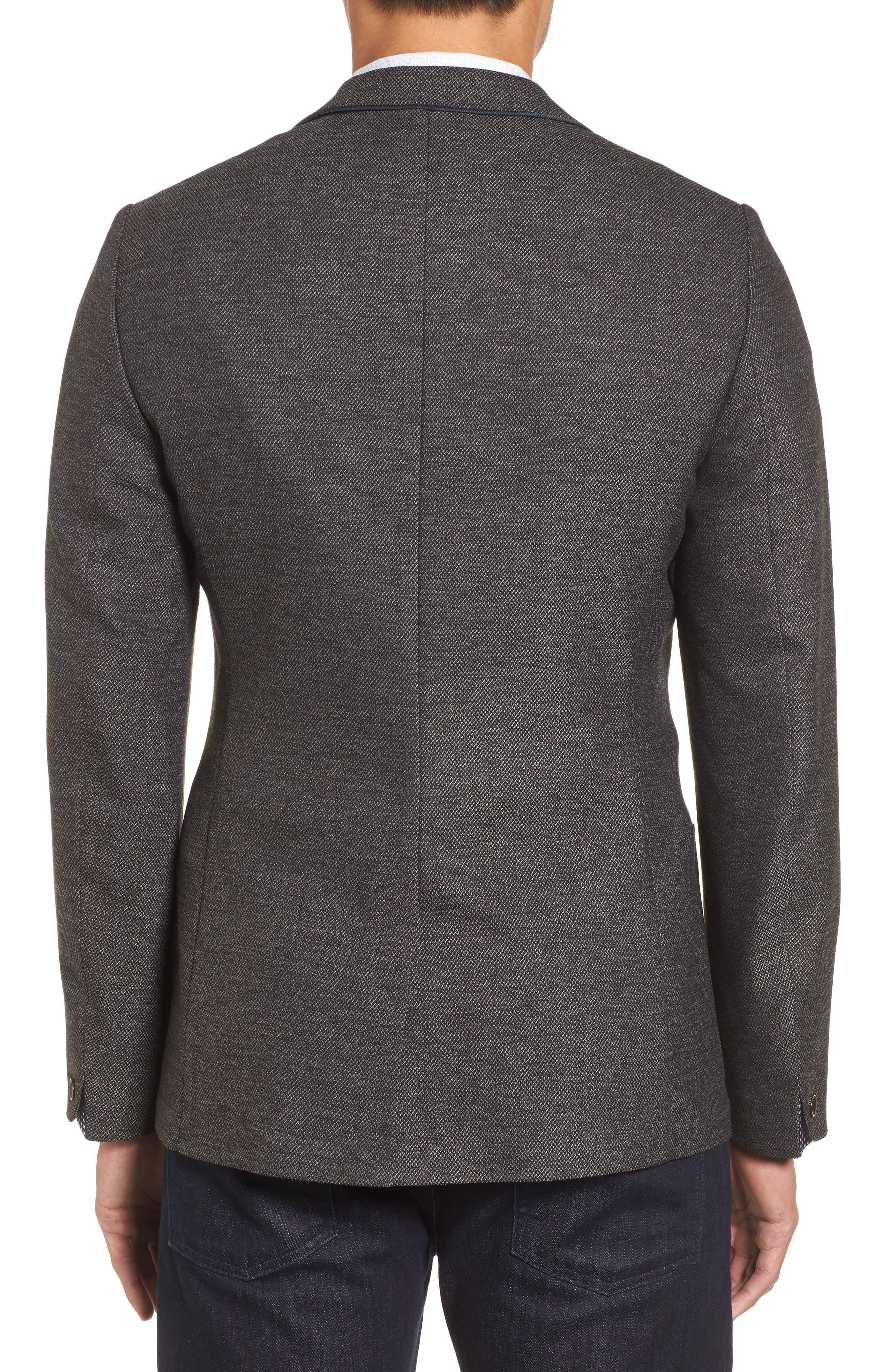 Port Slim Fit Jacket,                             Alternate thumbnail 2, color,                             Charcoal