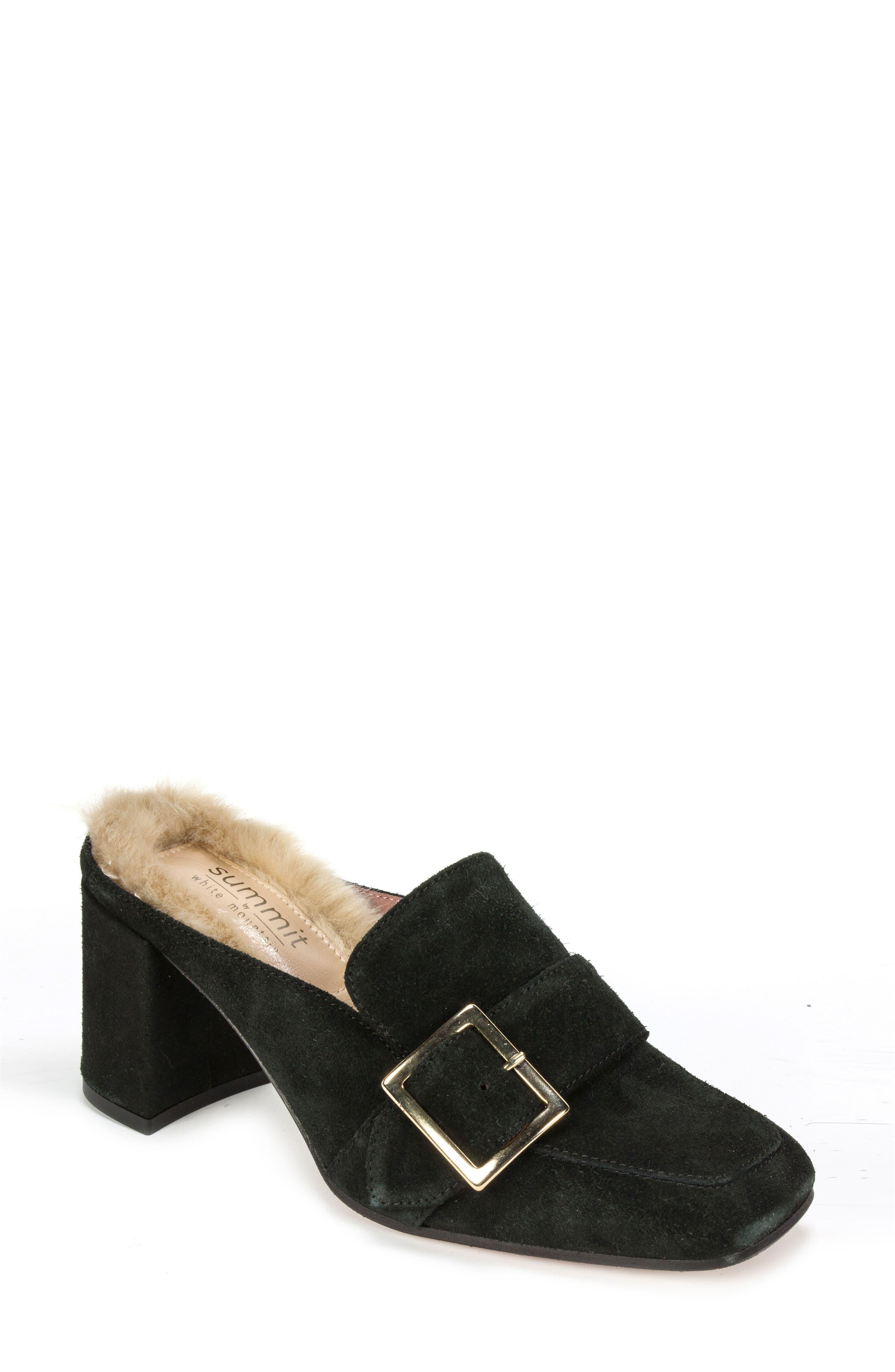 Macey Mule,                         Main,                         color, Black Suede