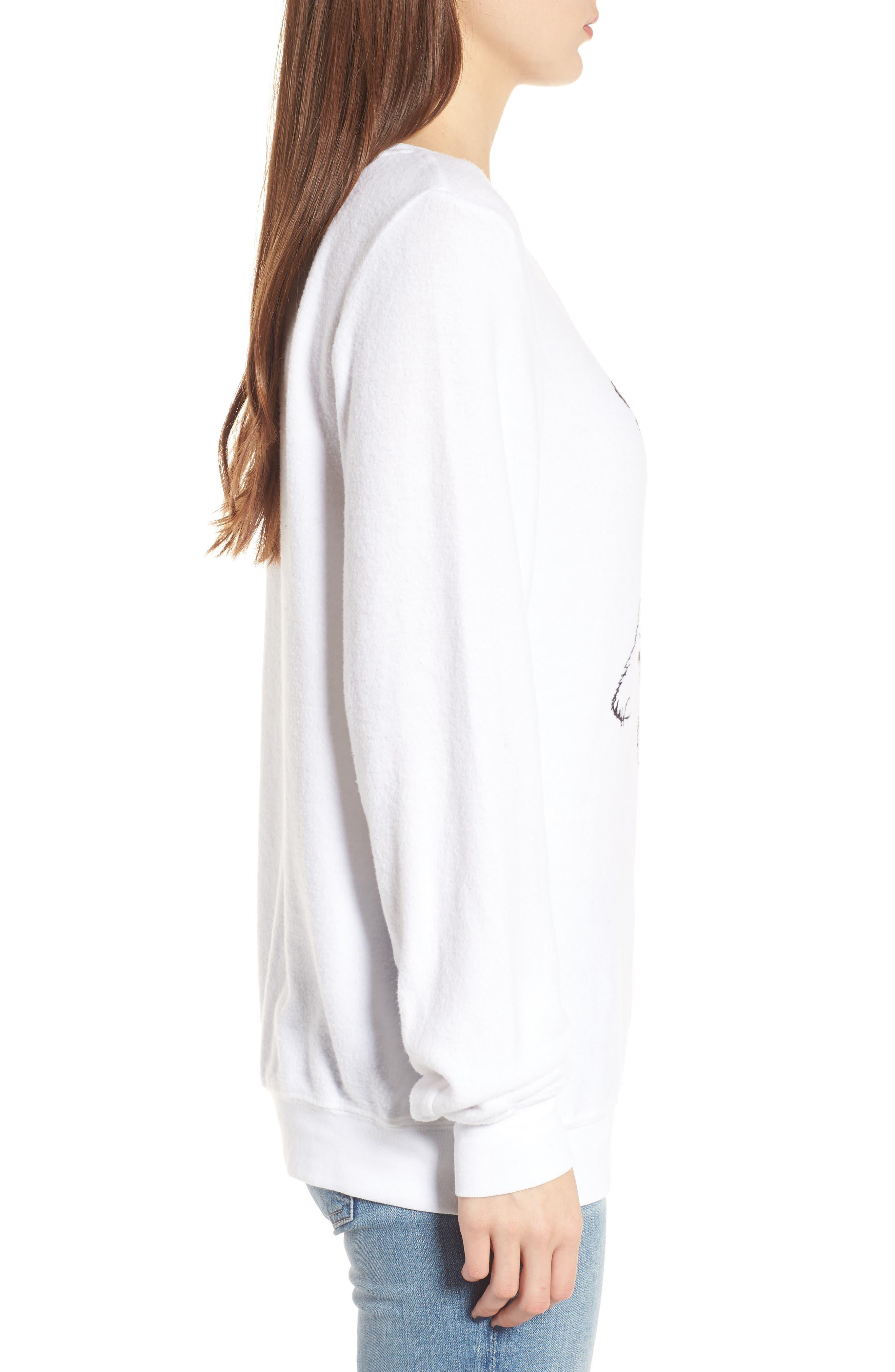 Stay Cool Polar Bear Sweatshirt,                             Alternate thumbnail 3, color,                             Clean White