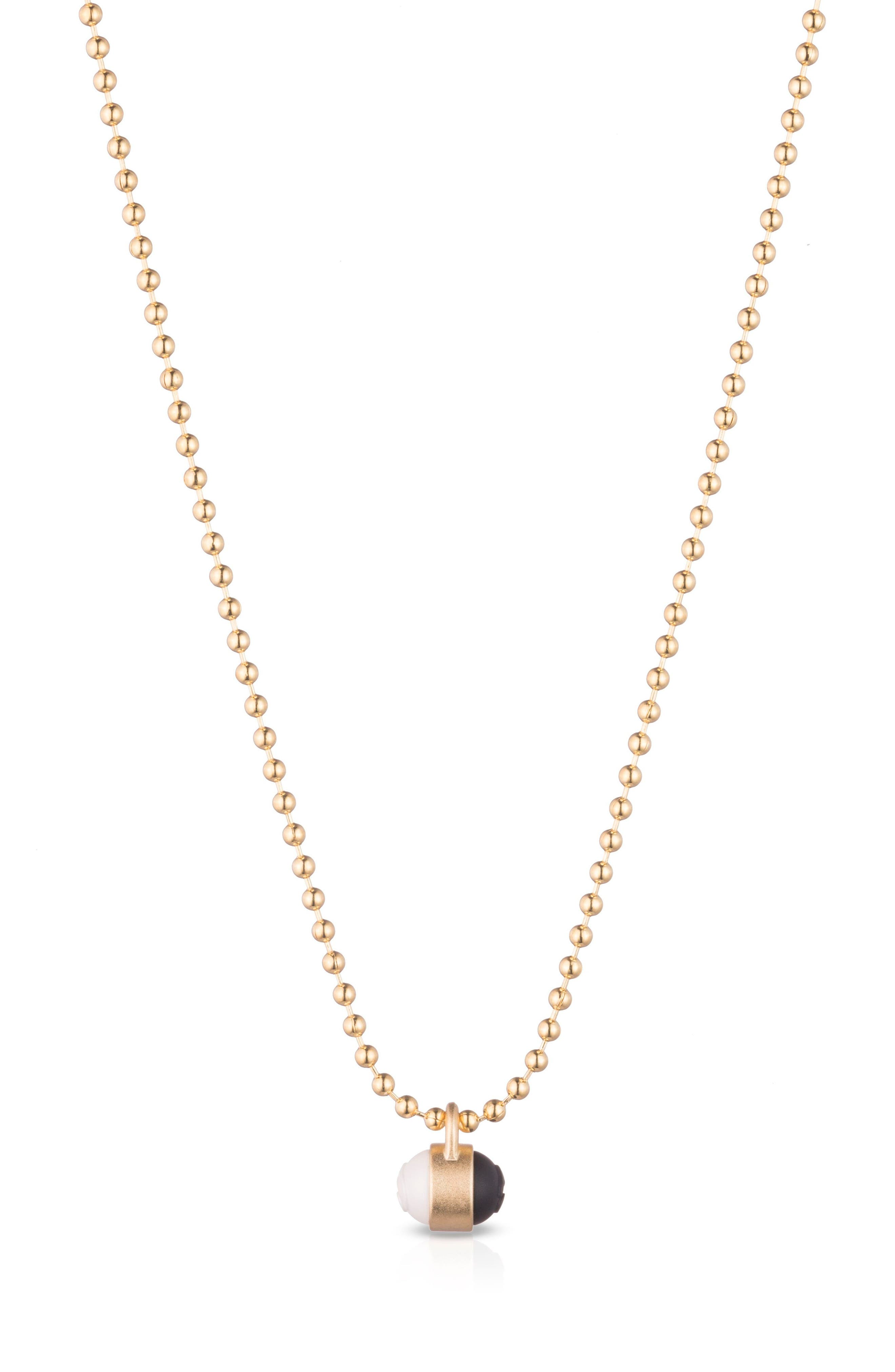 Pendant Ball Chain Necklace,                         Main,                         color, Gold
