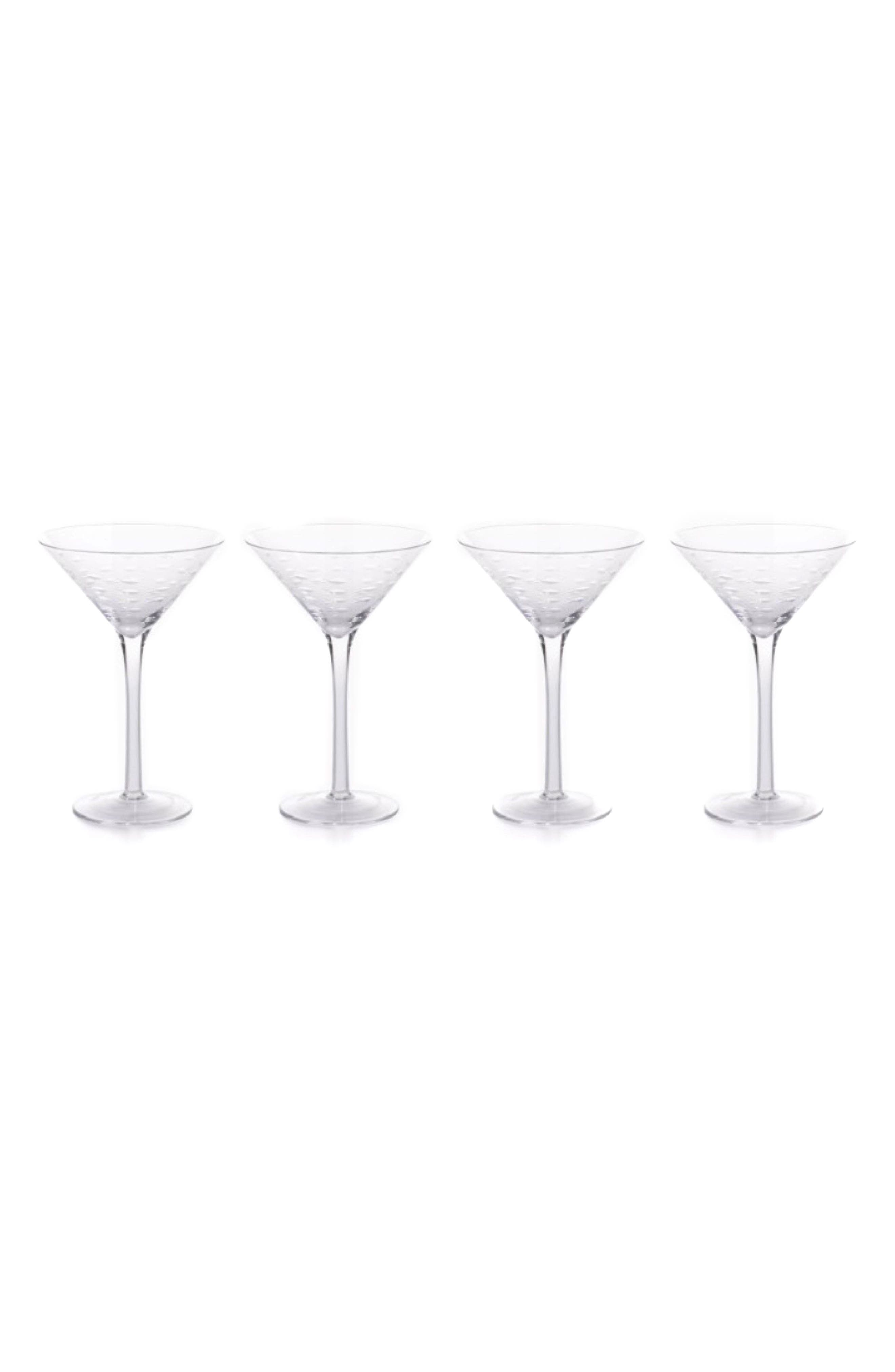 Keely Set of 4 Martini Glasses,                         Main,                         color, Clear