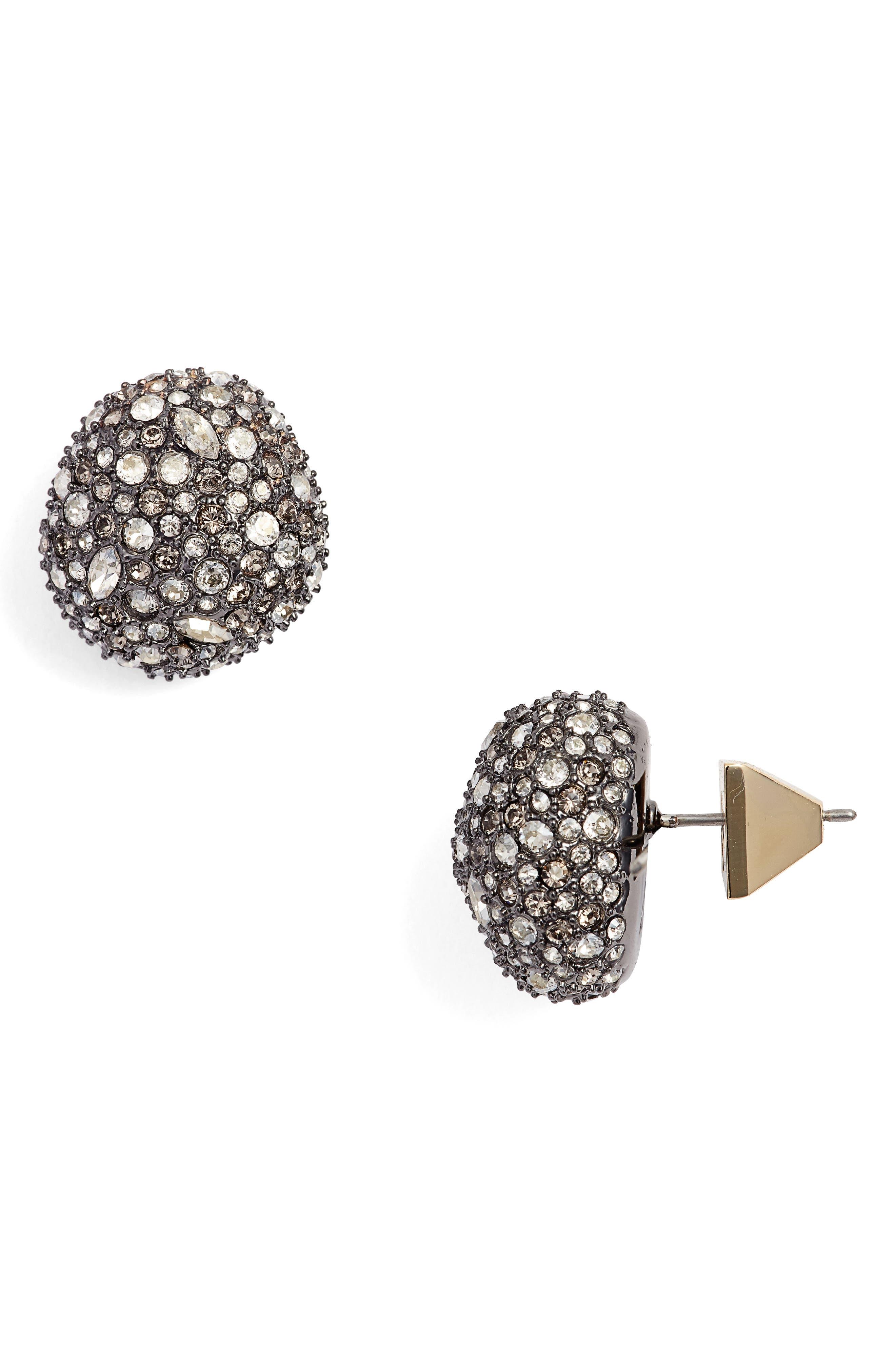 Elements Pavé Stud Earrings,                         Main,                         color, Gold