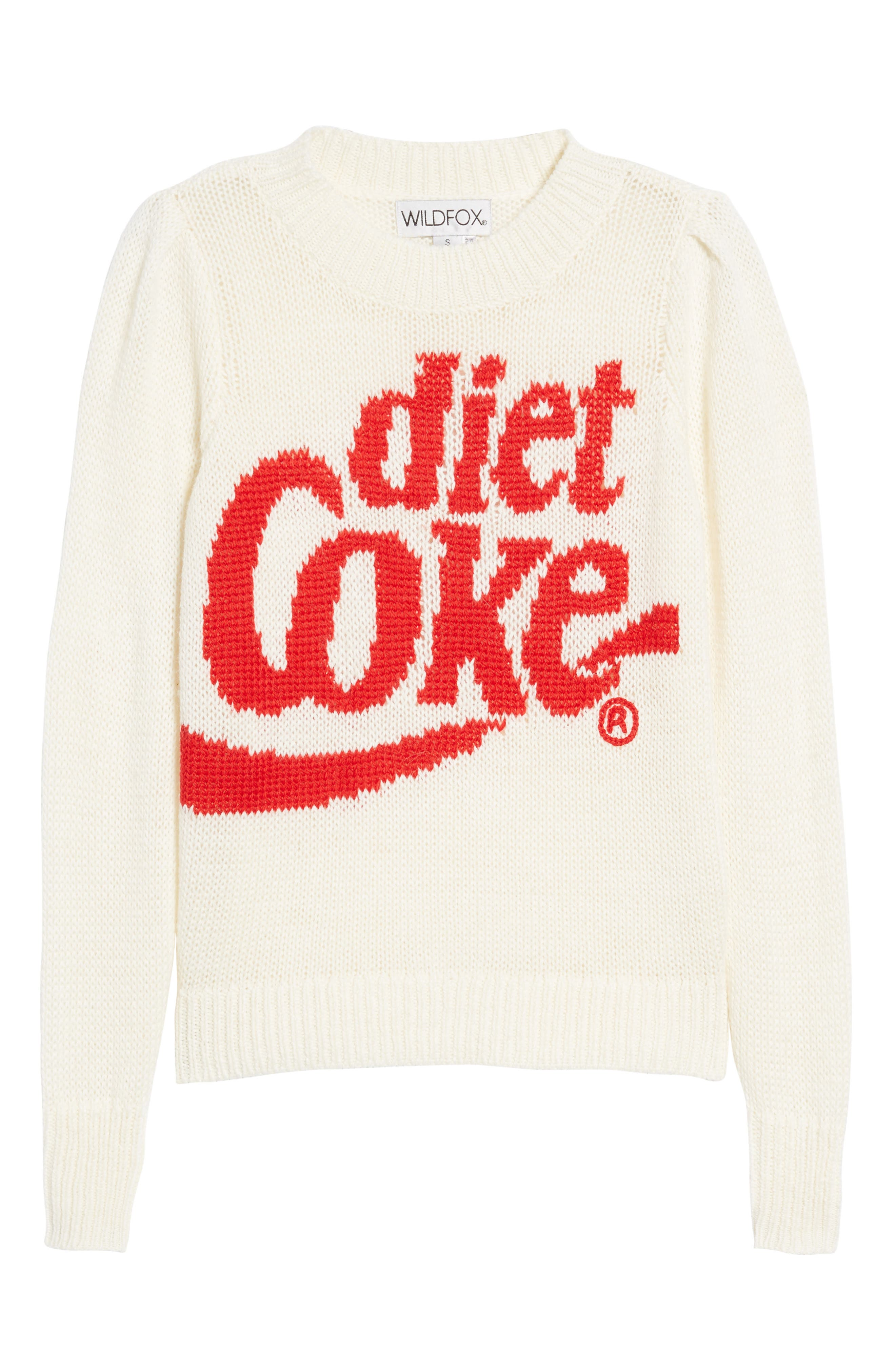 Diet Coke<sup>®</sup> Sweater,                             Alternate thumbnail 6, color,                             Clean White