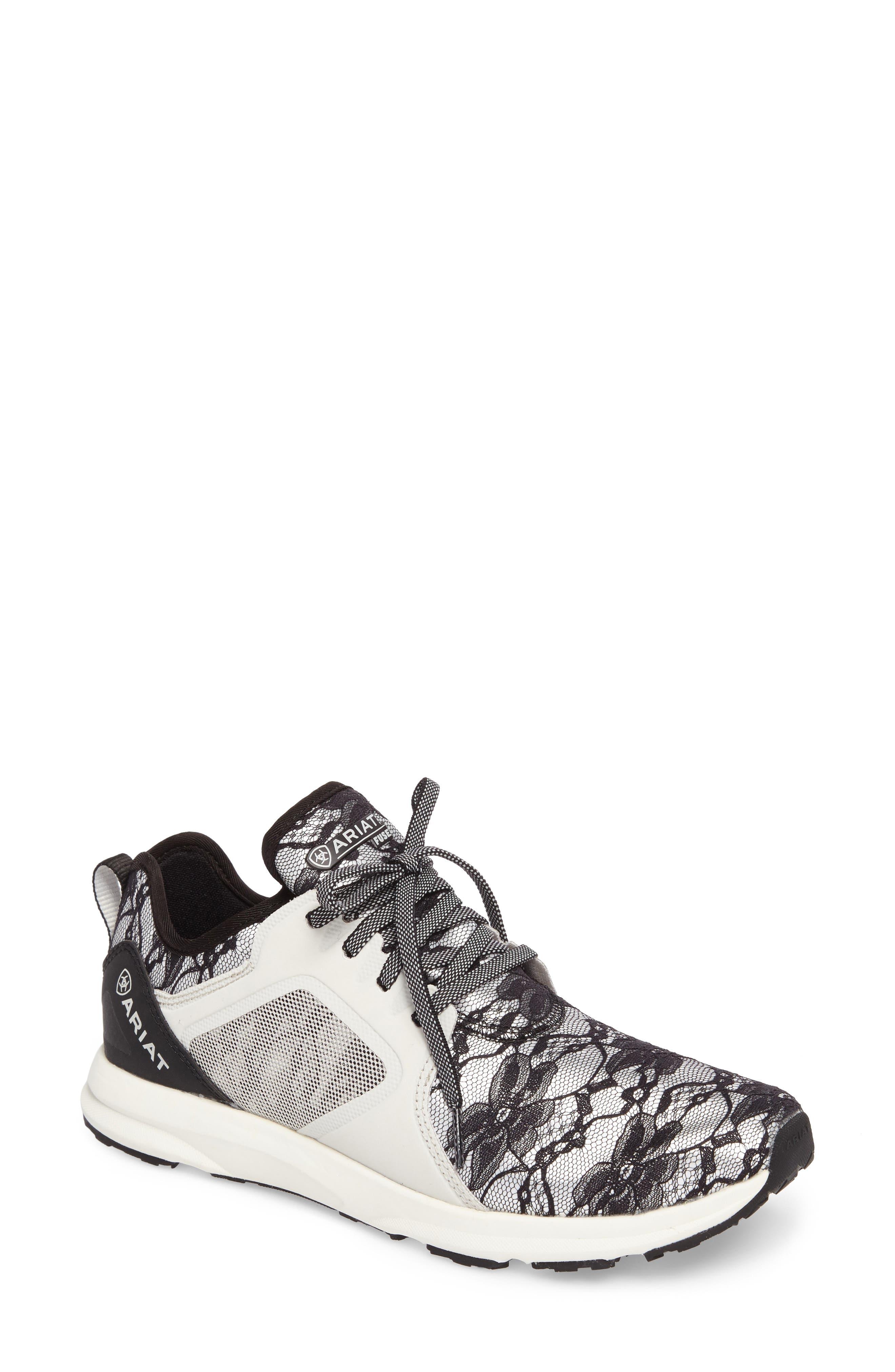 Fuse Print Sneaker,                             Main thumbnail 1, color,                             Black Lace