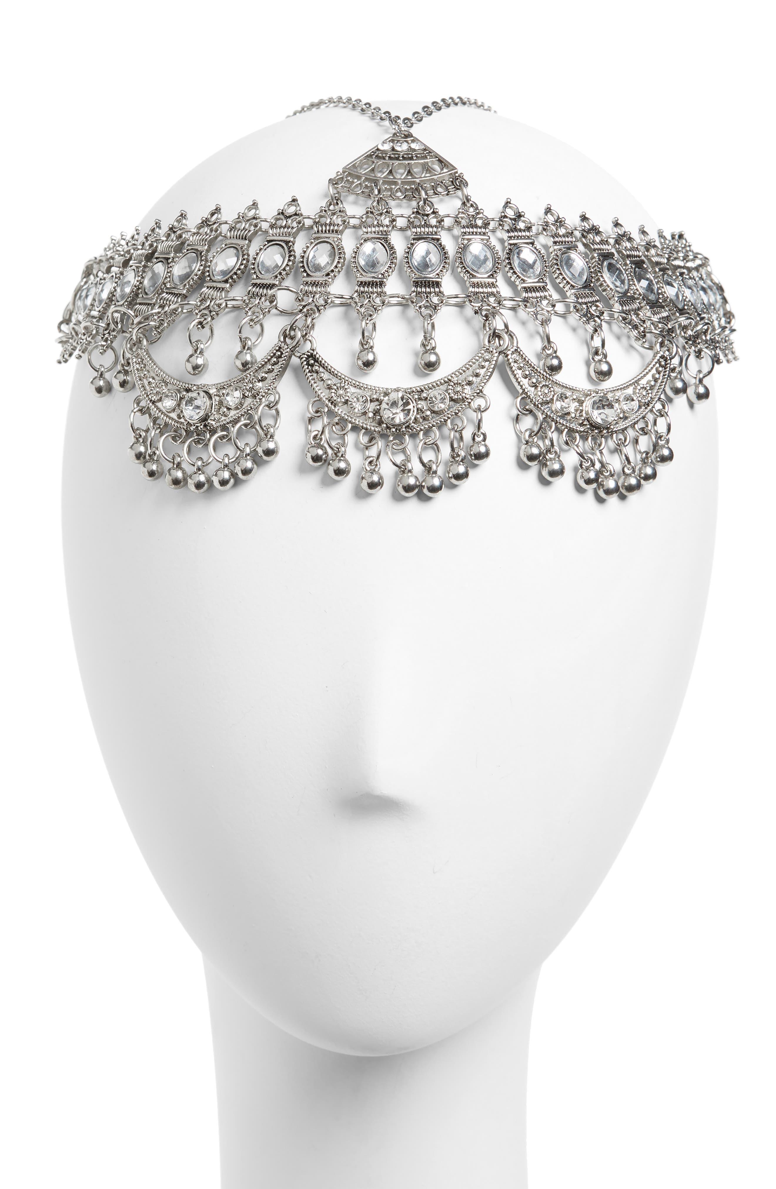Coin Head Chain,                         Main,                         color, Silver