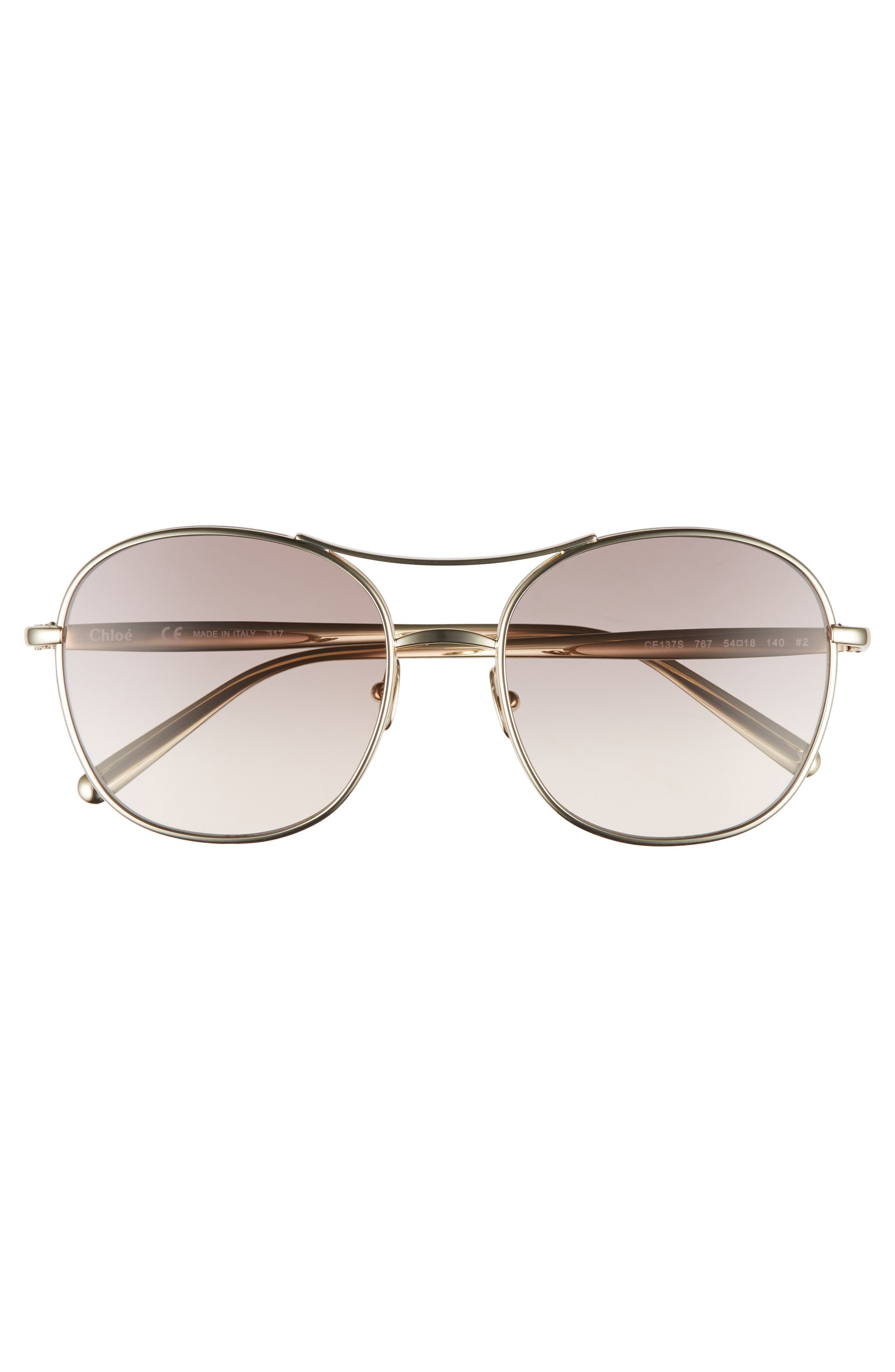 Alternate Image 5  - Chloé 54mm Aviator Sunglasses