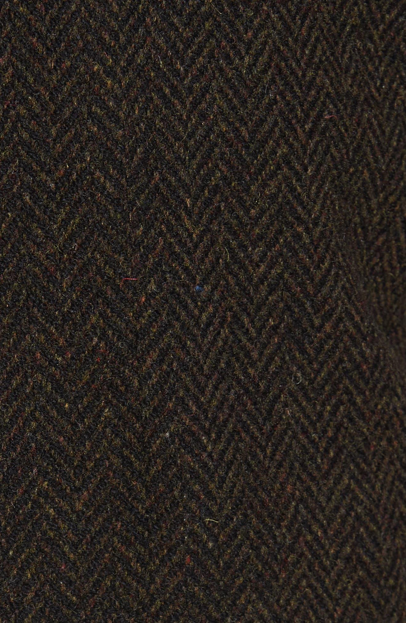 Genuine Shearling Collar N-1 Deck Jacket,                             Alternate thumbnail 5, color,                             Olive