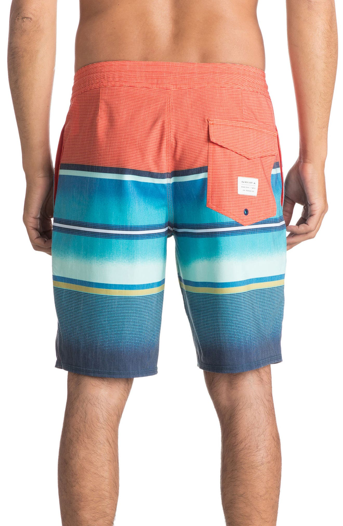 Swell Vision Board Shorts,                             Alternate thumbnail 2, color,                             Coral Rose