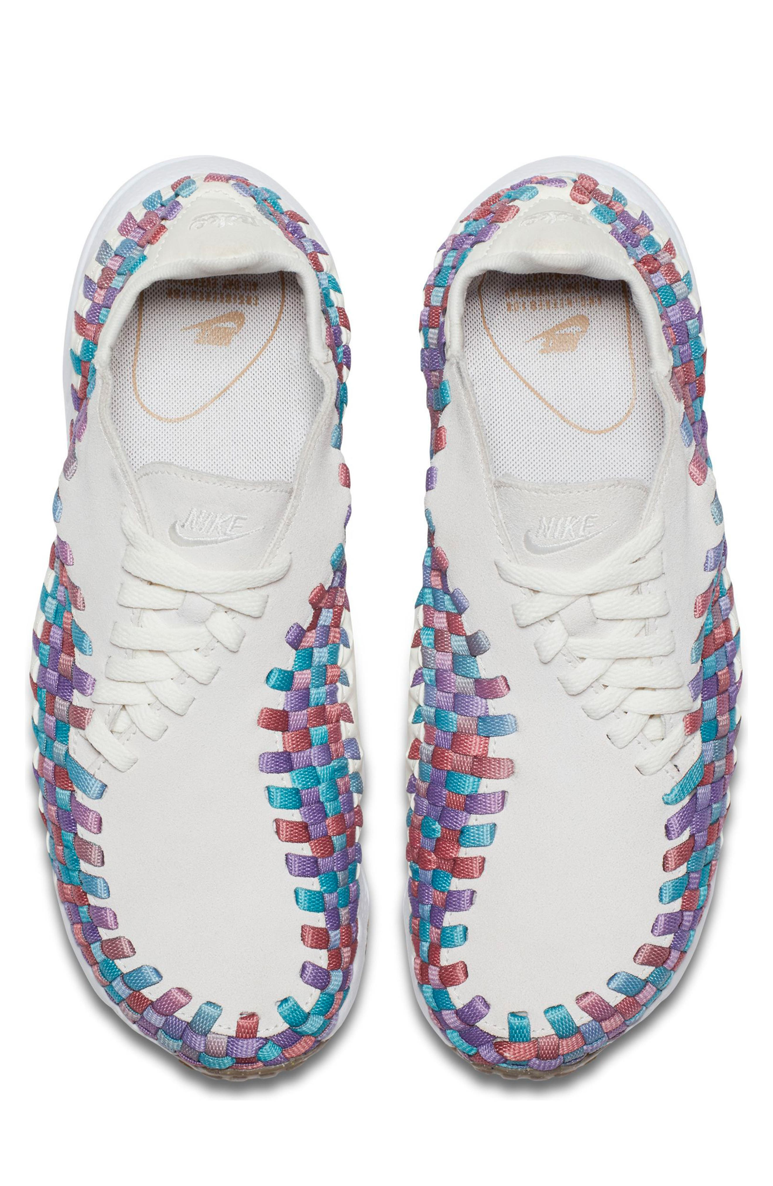 Air Footscape Woven Sneaker,                             Alternate thumbnail 5, color,                             Sail/ White/ Red/ Teal/ Gum