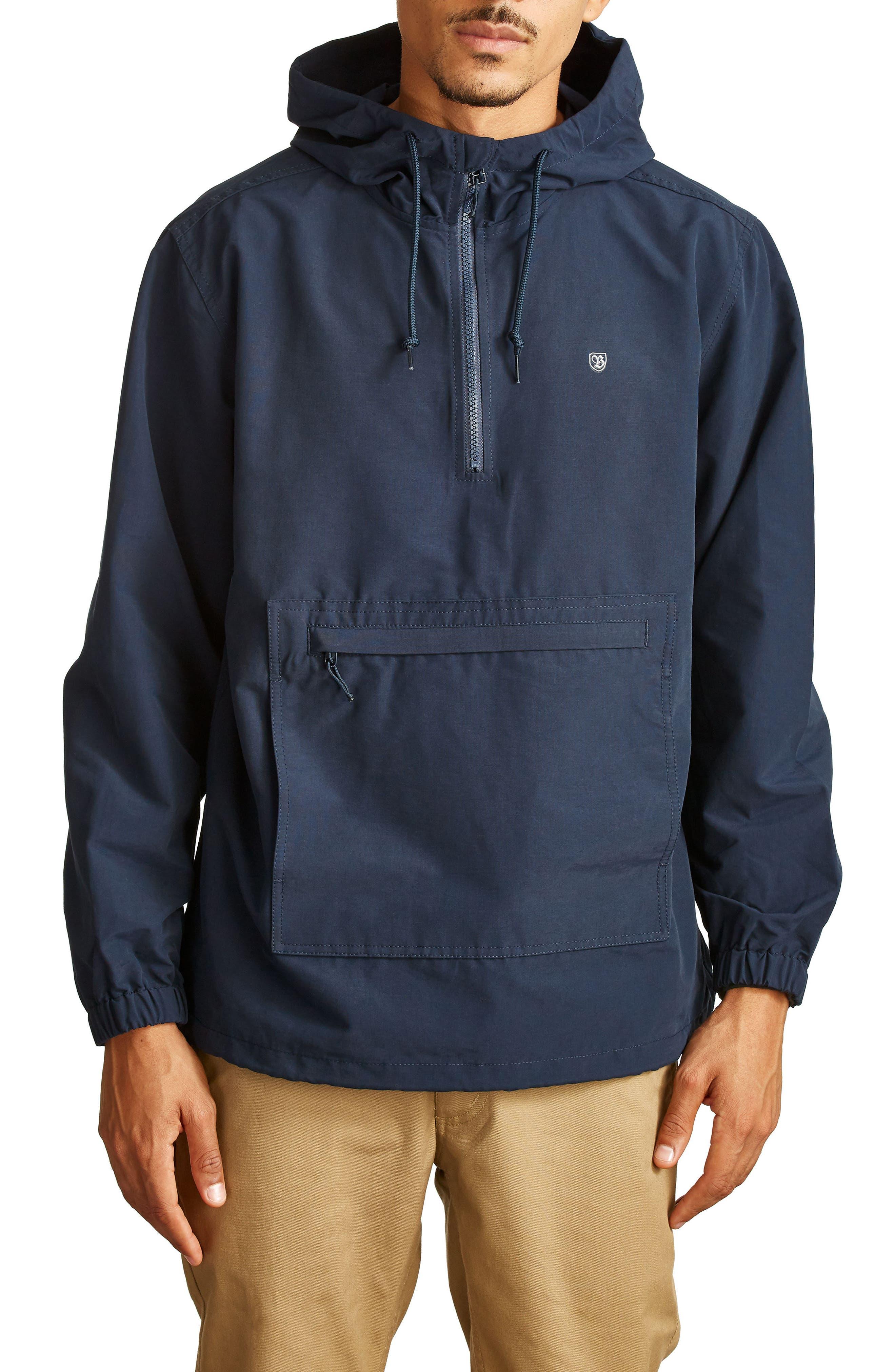 Patrol Water-Resistant Anorak Jacket,                         Main,                         color, Navy