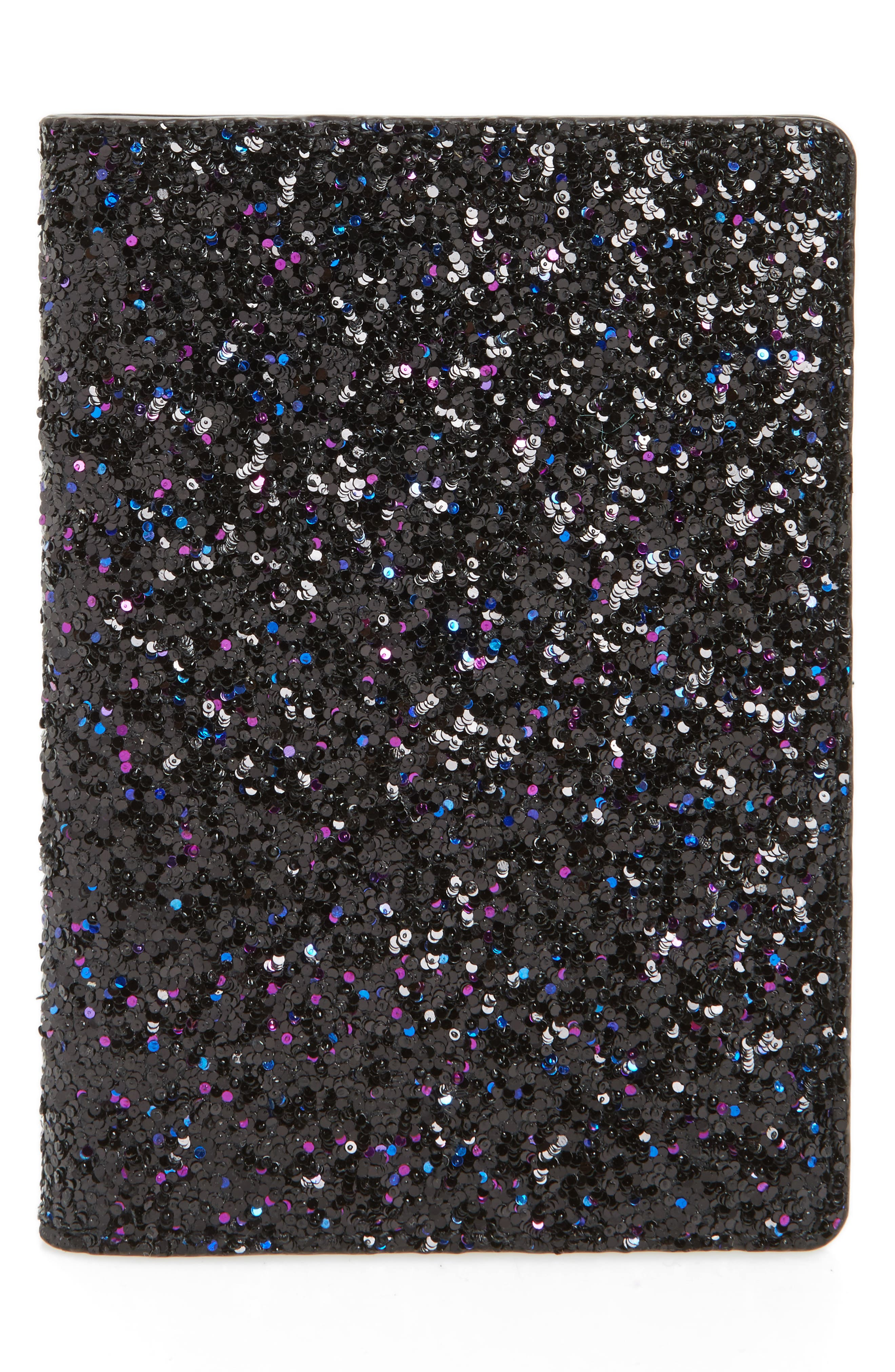 Glitter Passport Holder,                             Main thumbnail 1, color,                             Purple Multi