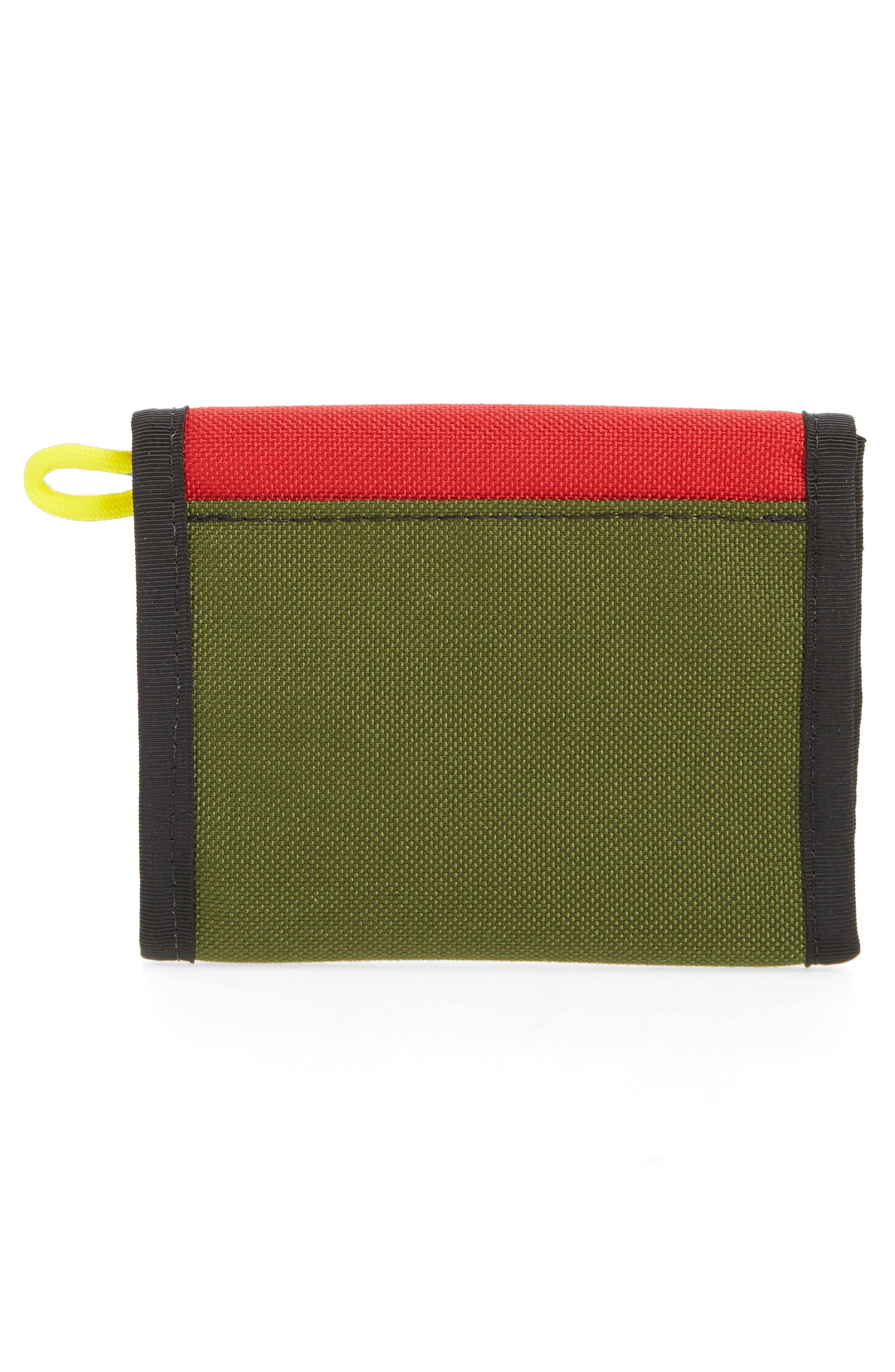 Snap Wallet,                             Alternate thumbnail 3, color,                             Red/ Olive