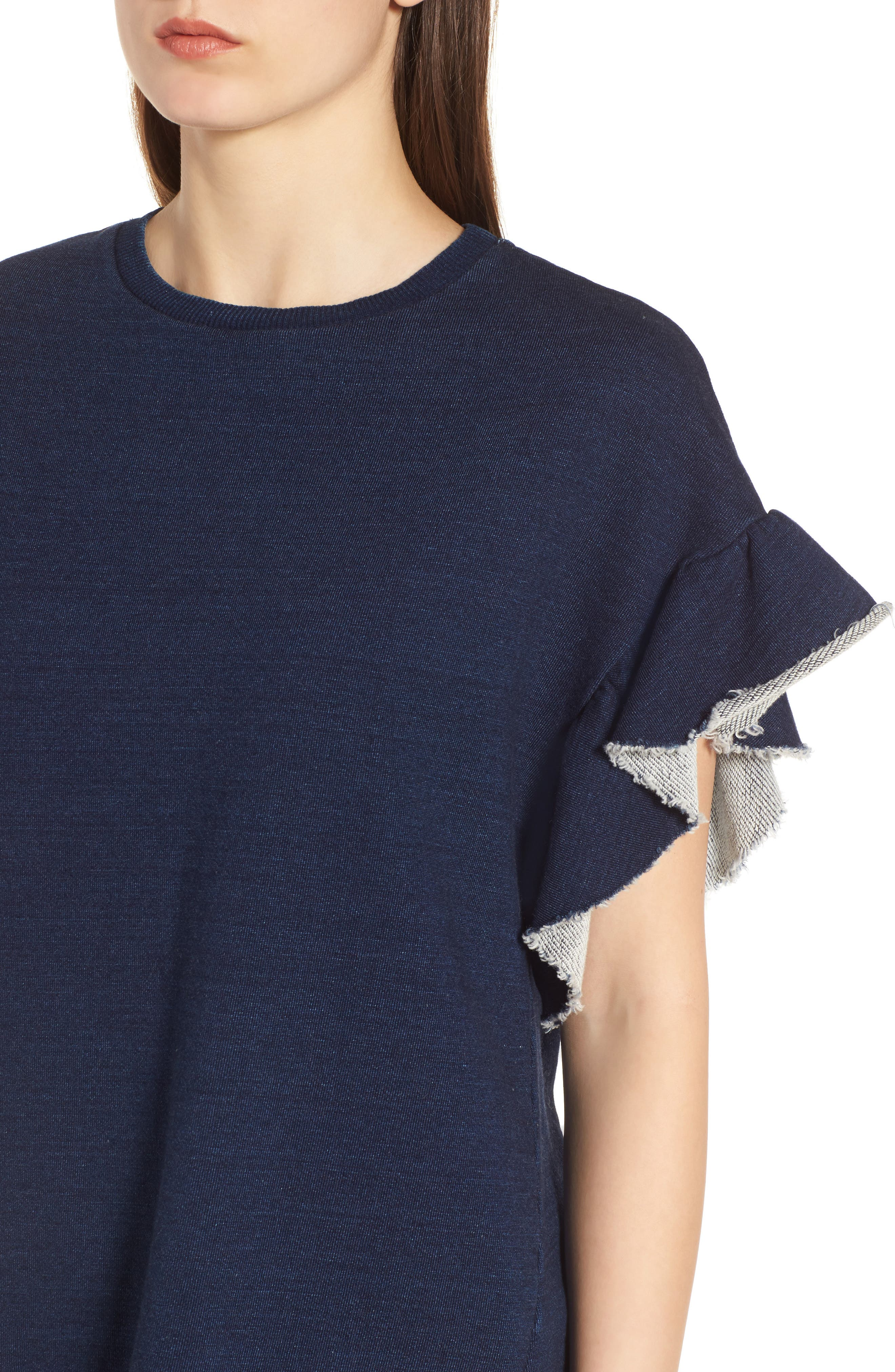 Alternate Image 3  - AG Bes Ruffle Sweatshirt