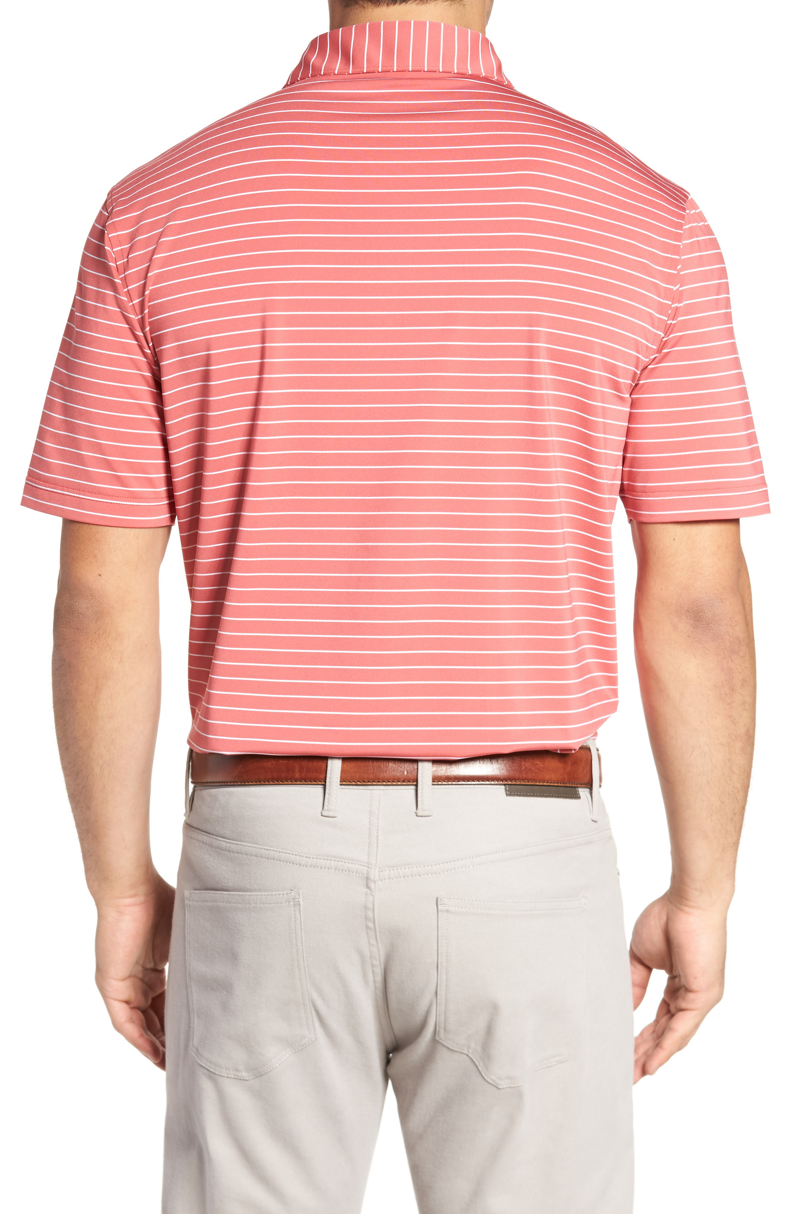 Halifax Pinstripe Stretch Jersey Polo,                             Alternate thumbnail 2, color,                             Cape Red