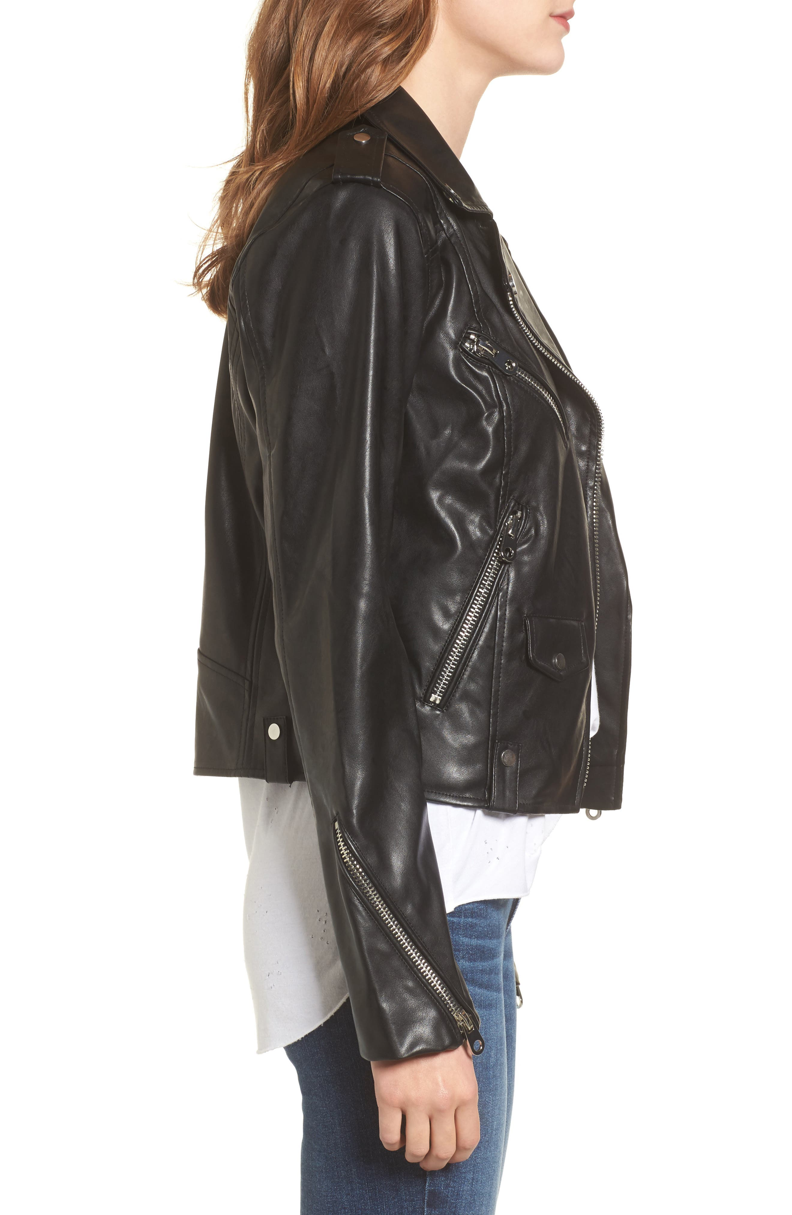 Alternate Image 3  - Vigoss Faux Leather Moto Jacket