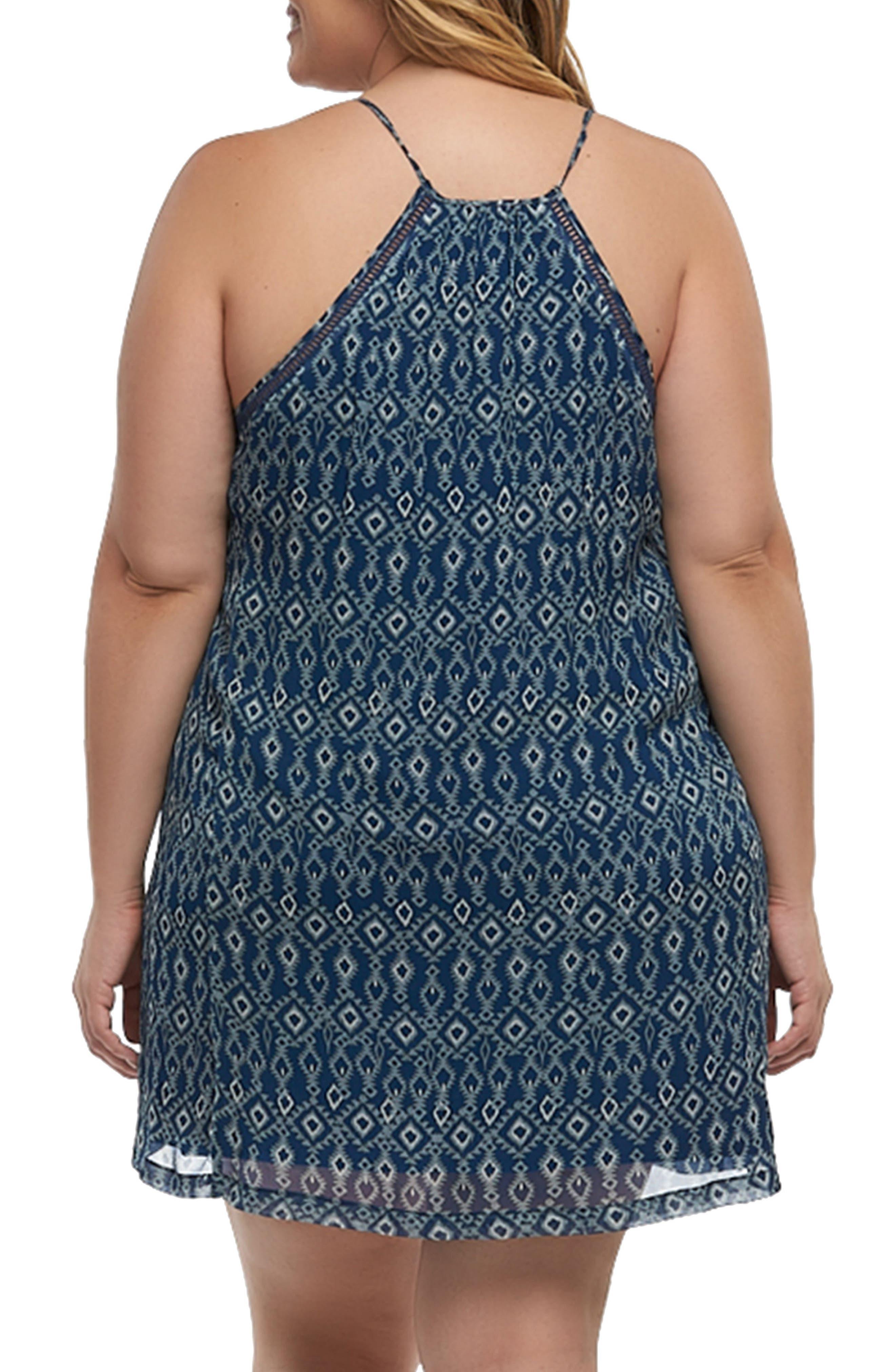 Athena Print Cover-Up Dress,                             Alternate thumbnail 2, color,                             Diamonds