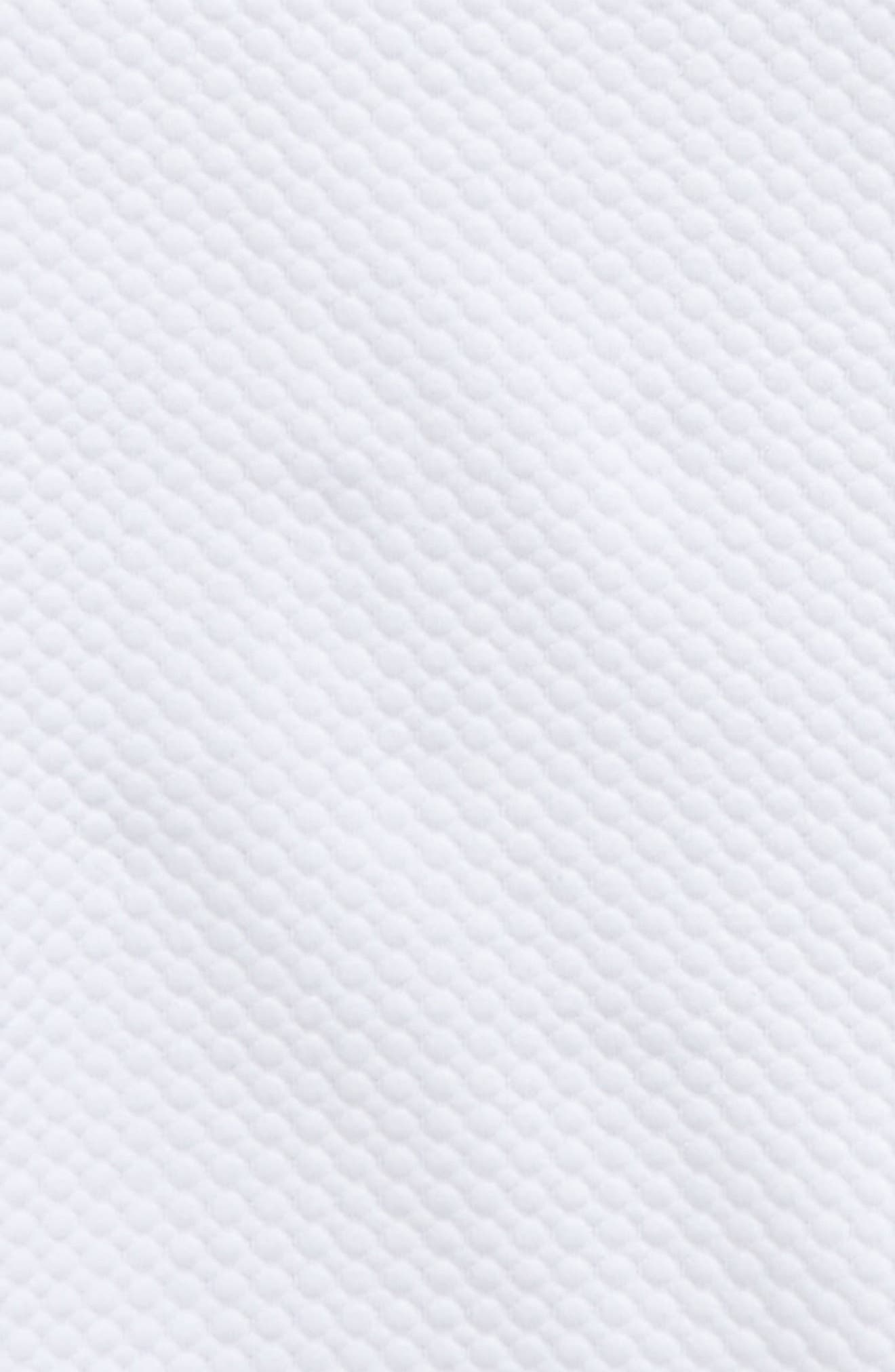 Mock Neck Scuba Sweatshirt,                             Alternate thumbnail 2, color,                             White
