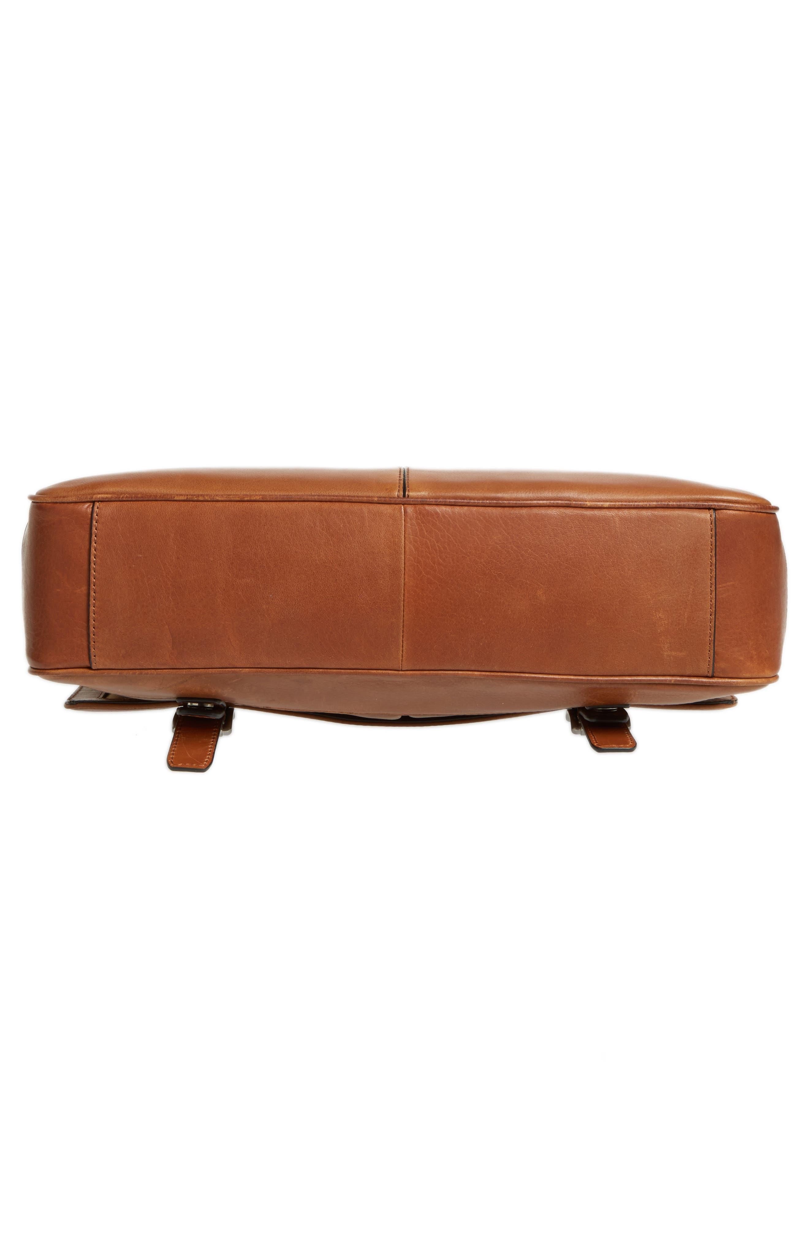 Oliver Leather Messenger Bag,                             Alternate thumbnail 6, color,                             Cognac
