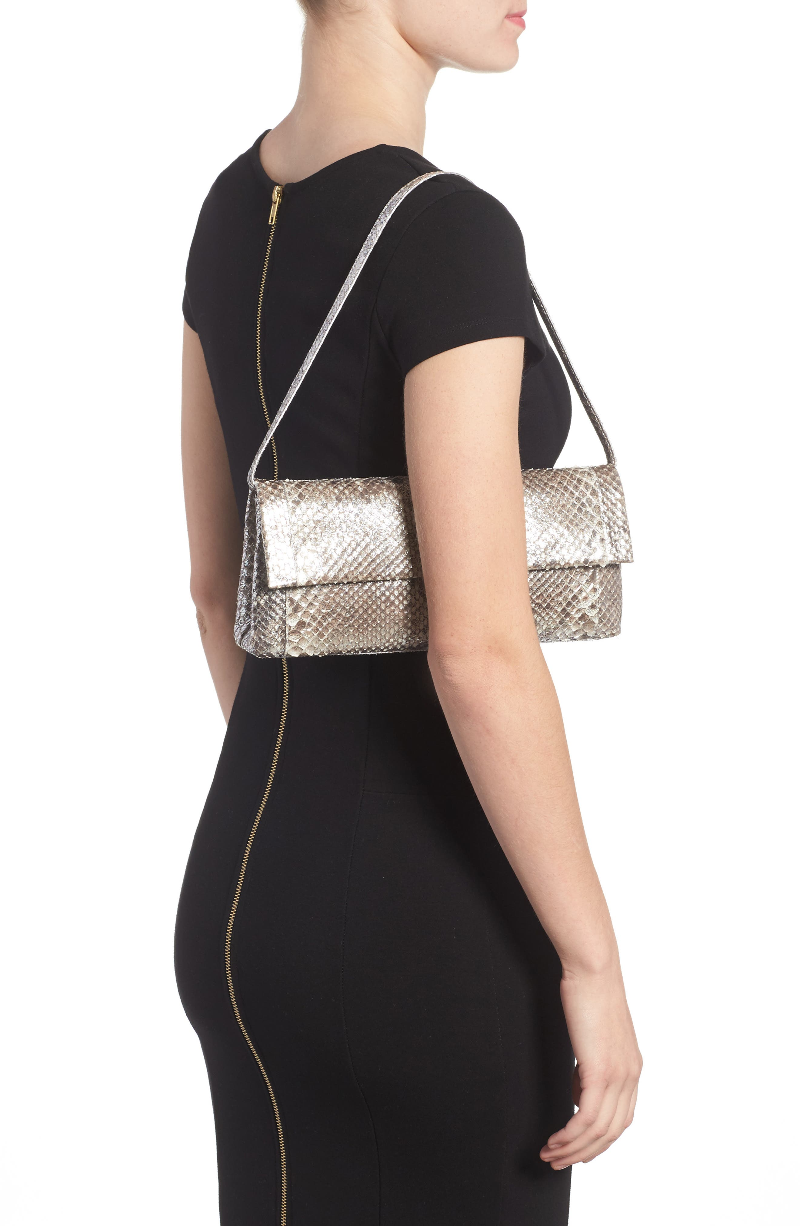 Alternate Image 2  - Nancy Gonzalez Gotham Genuine Python Metallic Clutch