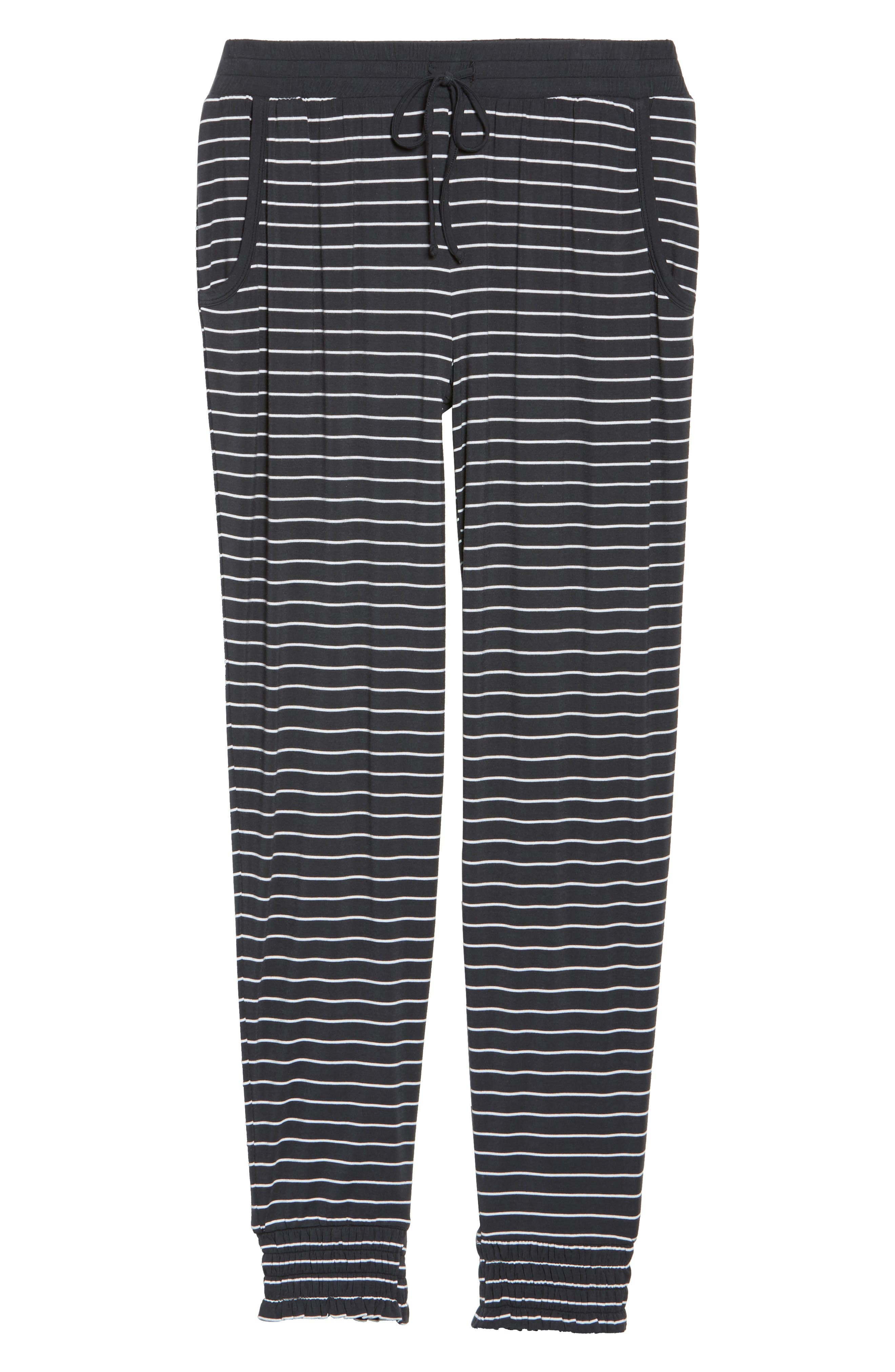 Stripe Jersey Lounge Pants,                             Alternate thumbnail 6, color,                             Smoke