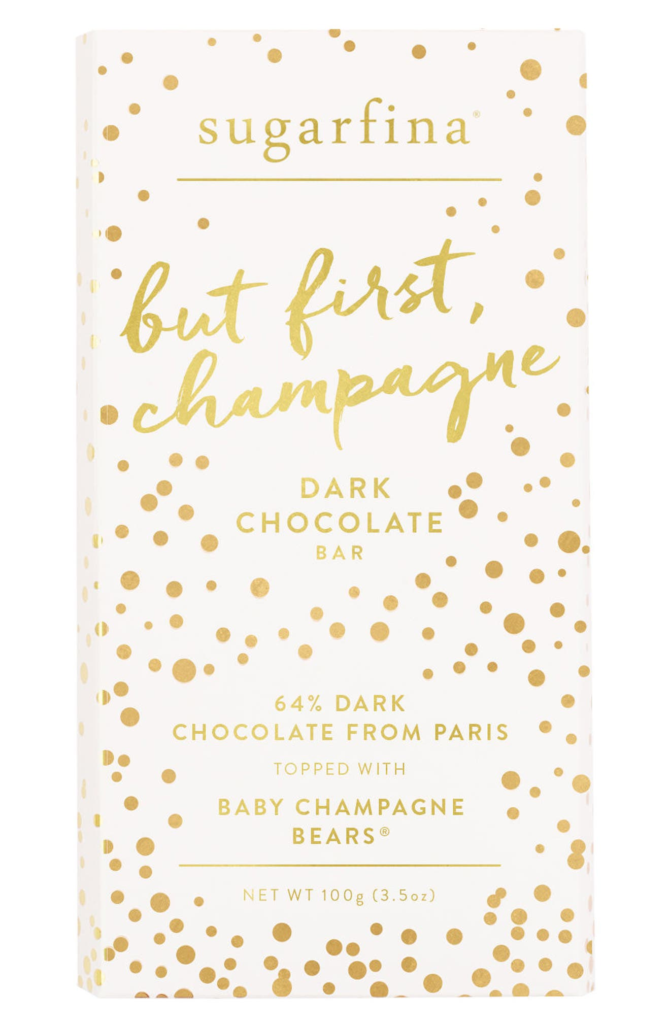 2-Pack Dark Chocolate Champagne Bears Bars,                             Main thumbnail 1, color,                             Pink