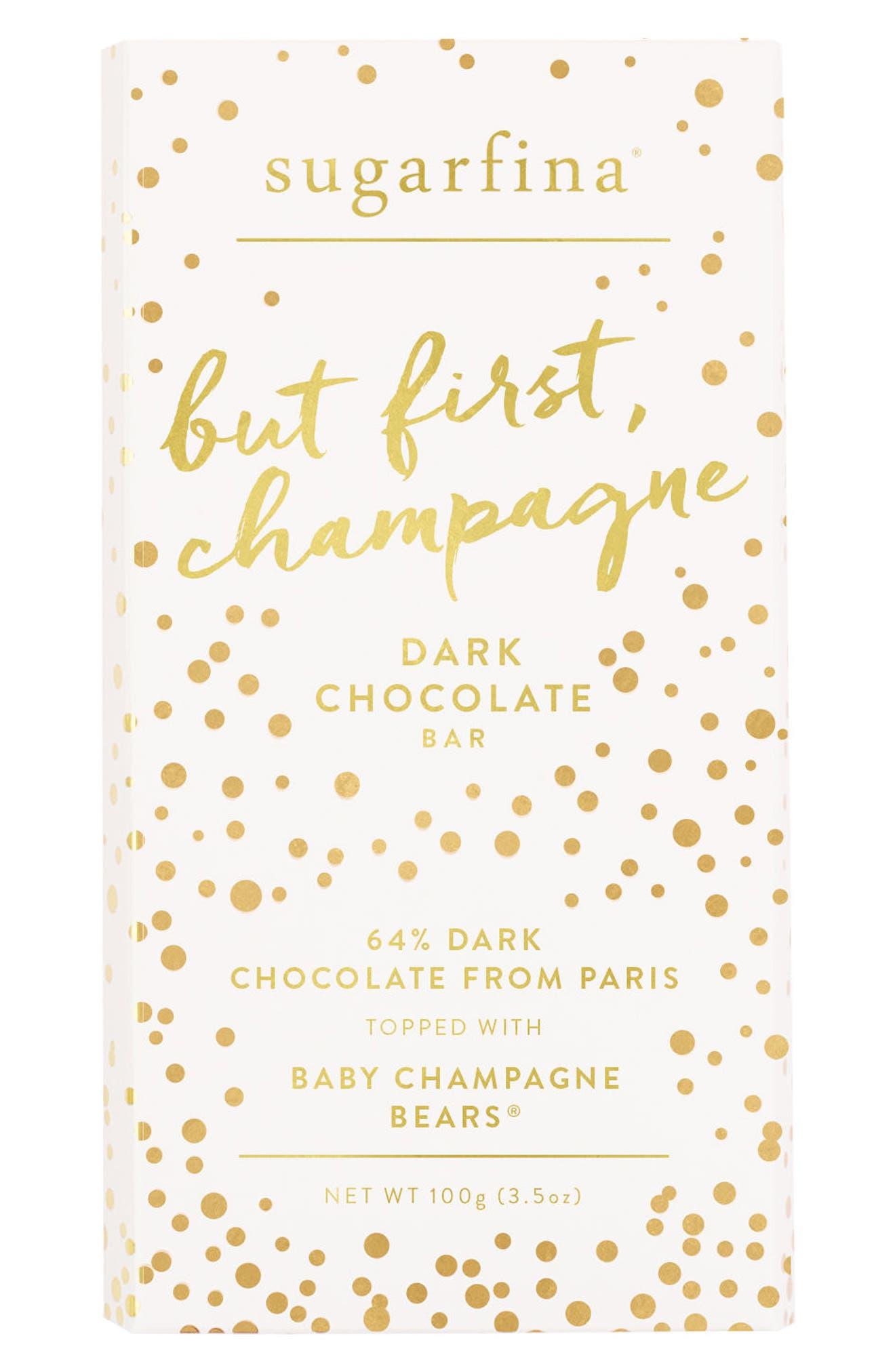 2-Pack Dark Chocolate Champagne Bears Bars,                         Main,                         color, Pink