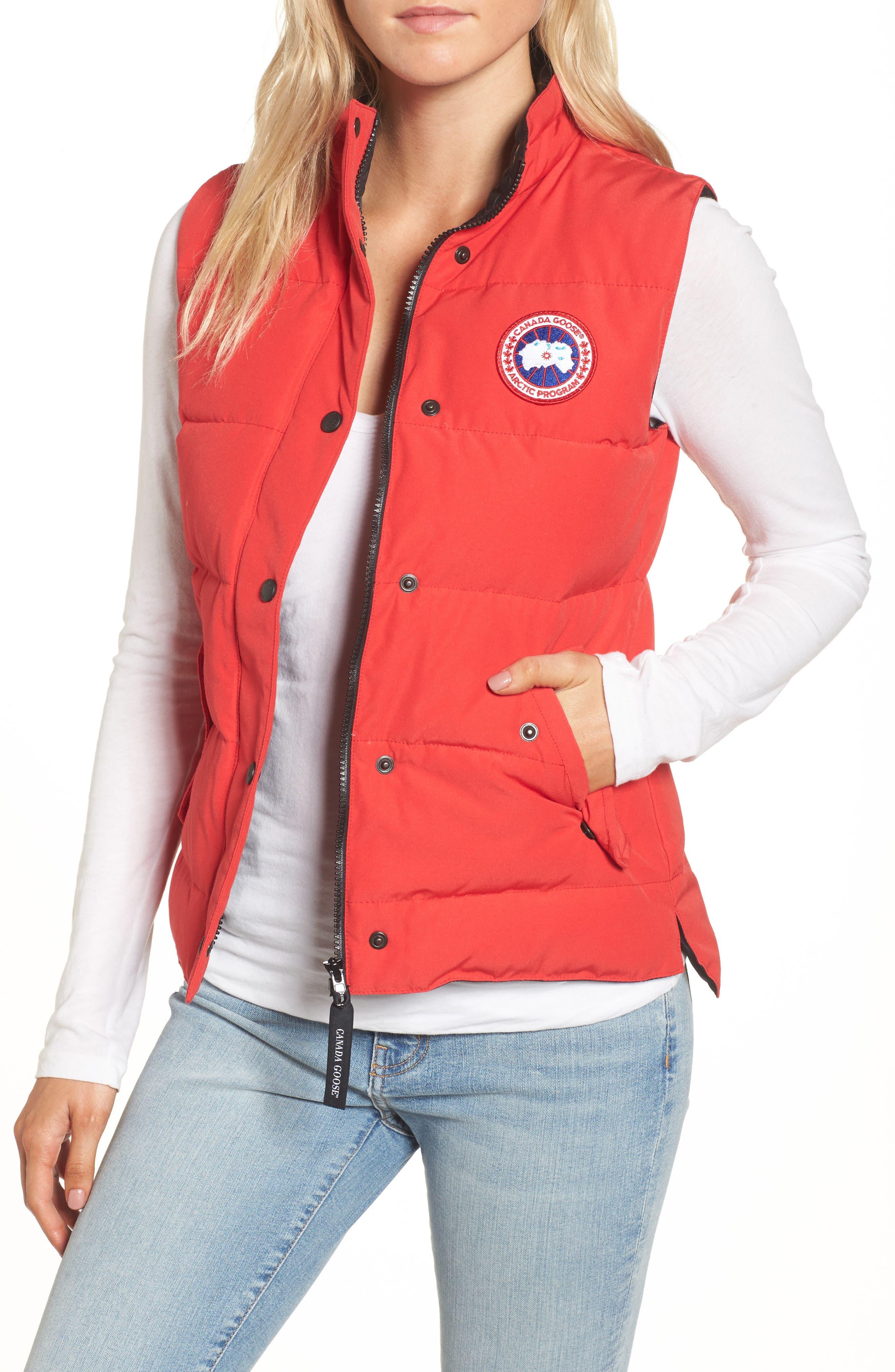 canada goose red vest