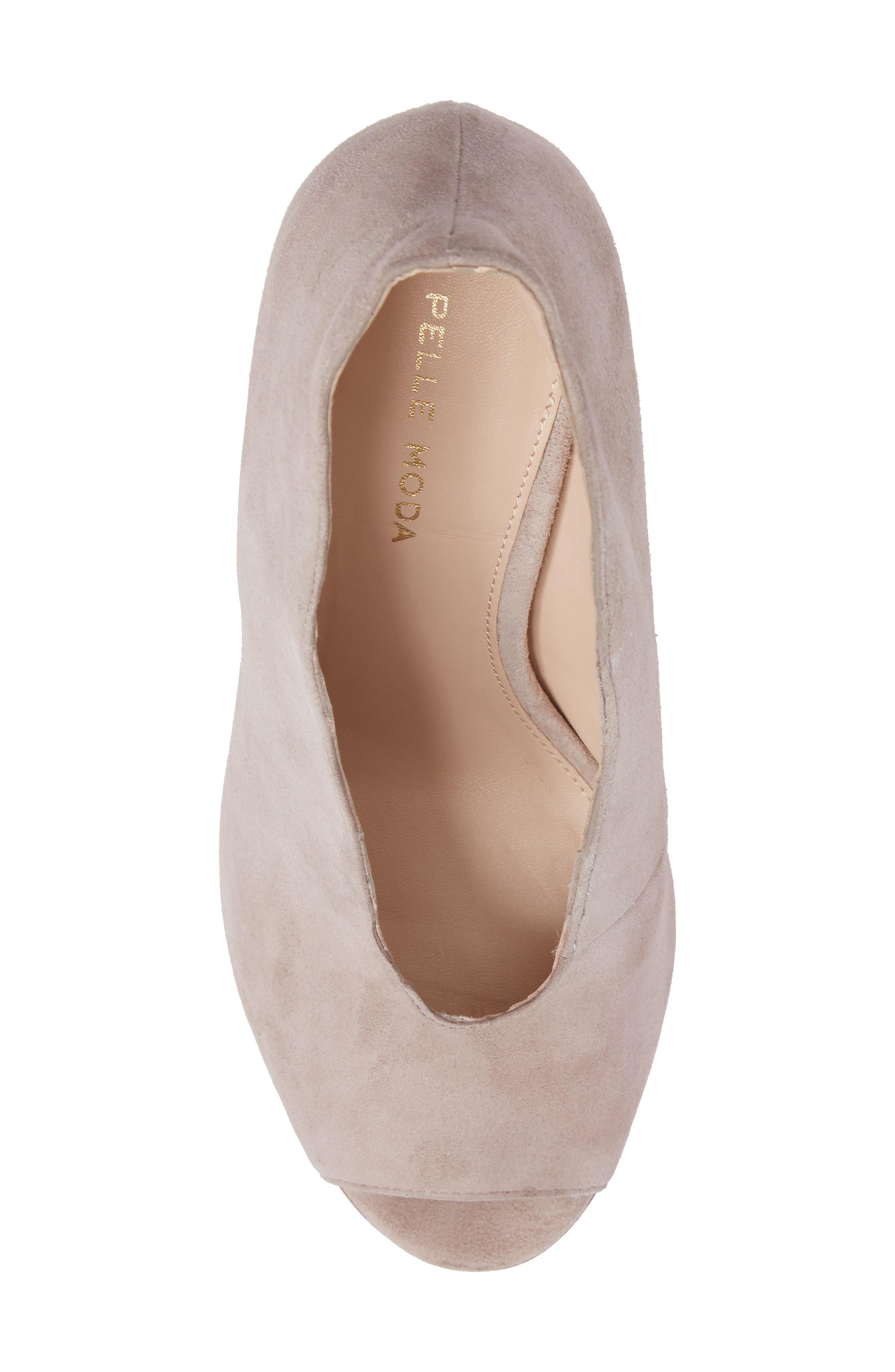 Alternate Image 5  - Pelle Moda Elvia Peep Toe Pump (Women)