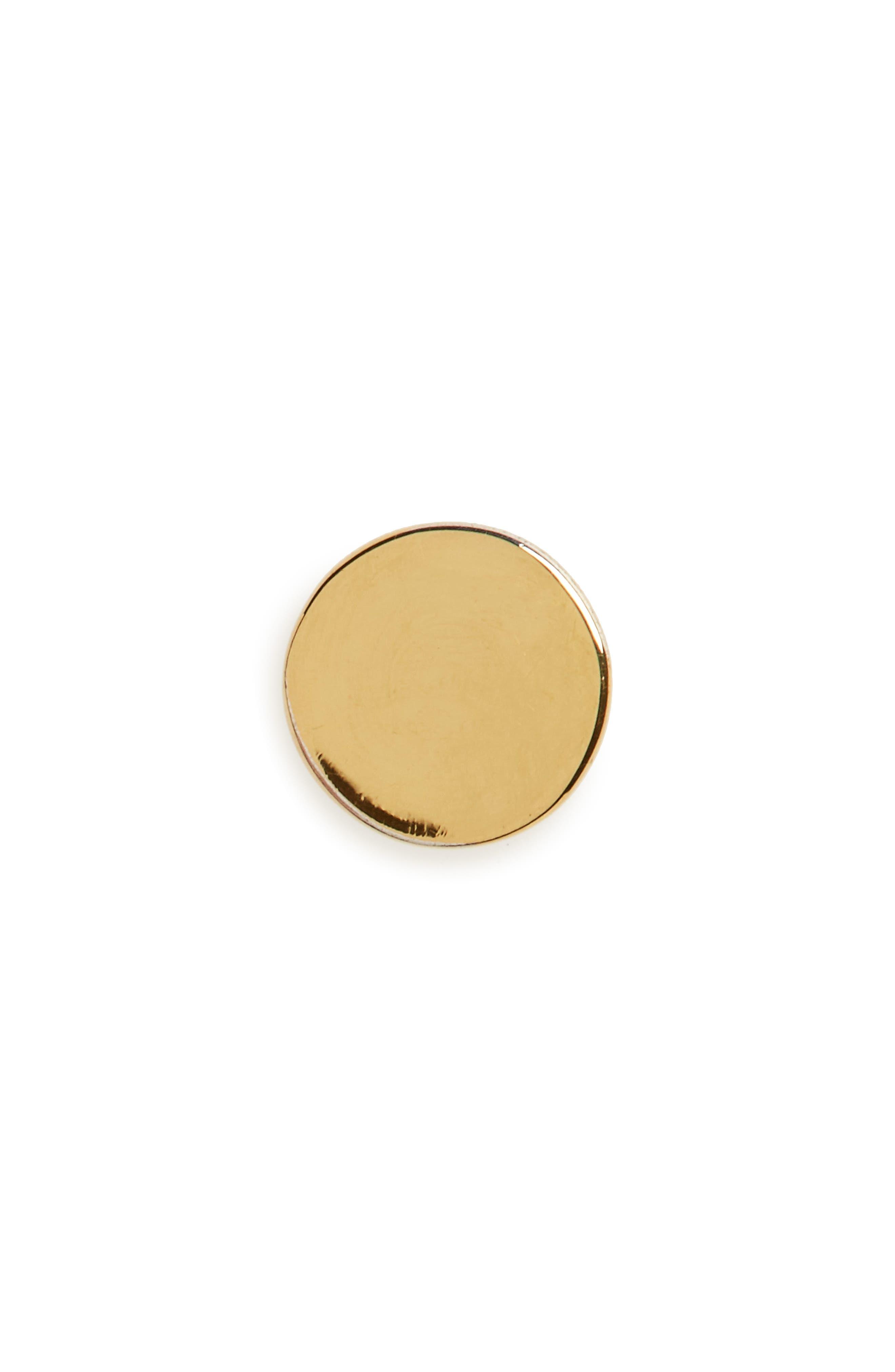Circle Stud Earring,                             Main thumbnail 1, color,                             Gold