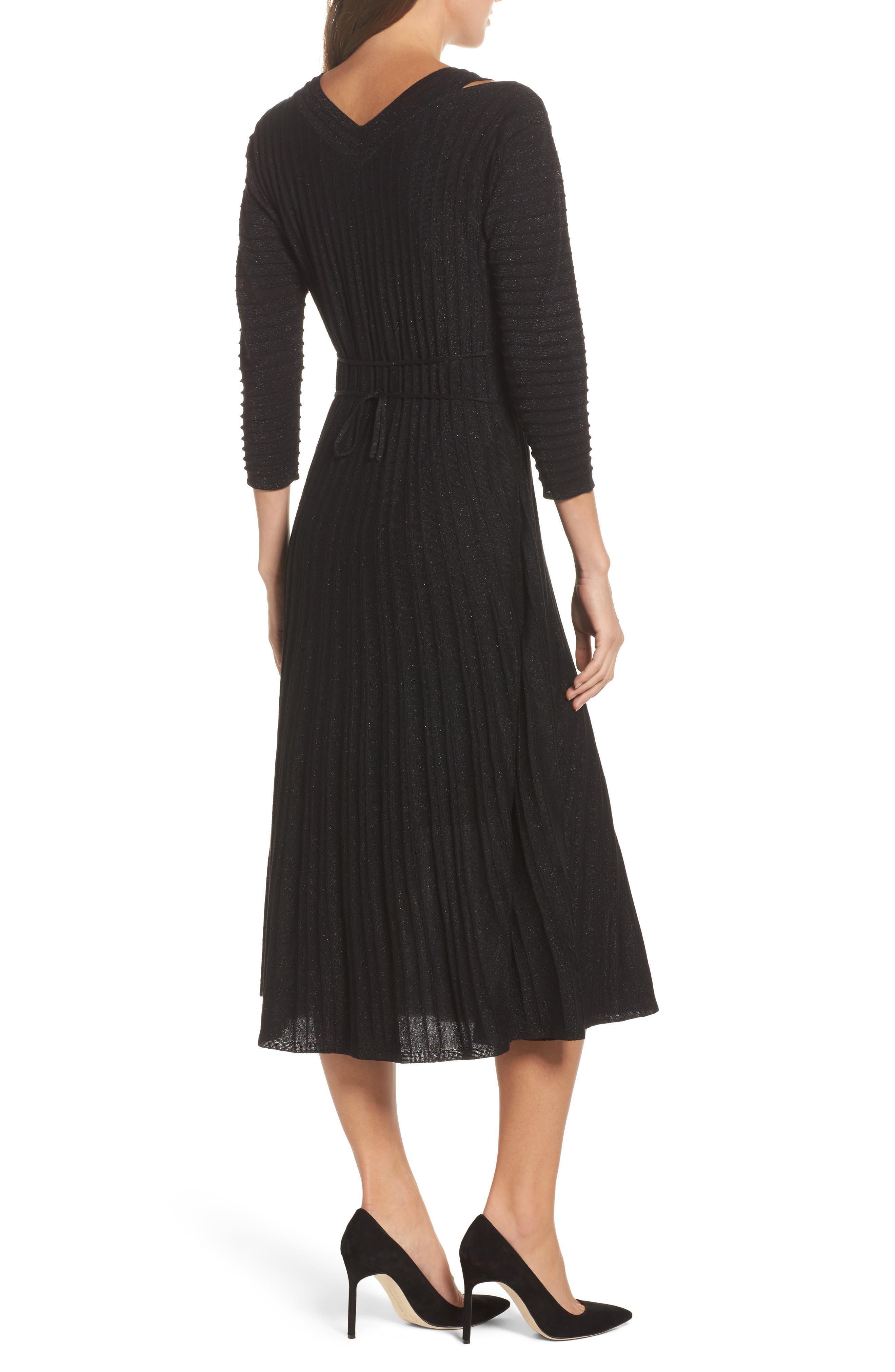 NIC + ZOE Shimmer Pleats Dress,                             Alternate thumbnail 2, color,                             Metallic B